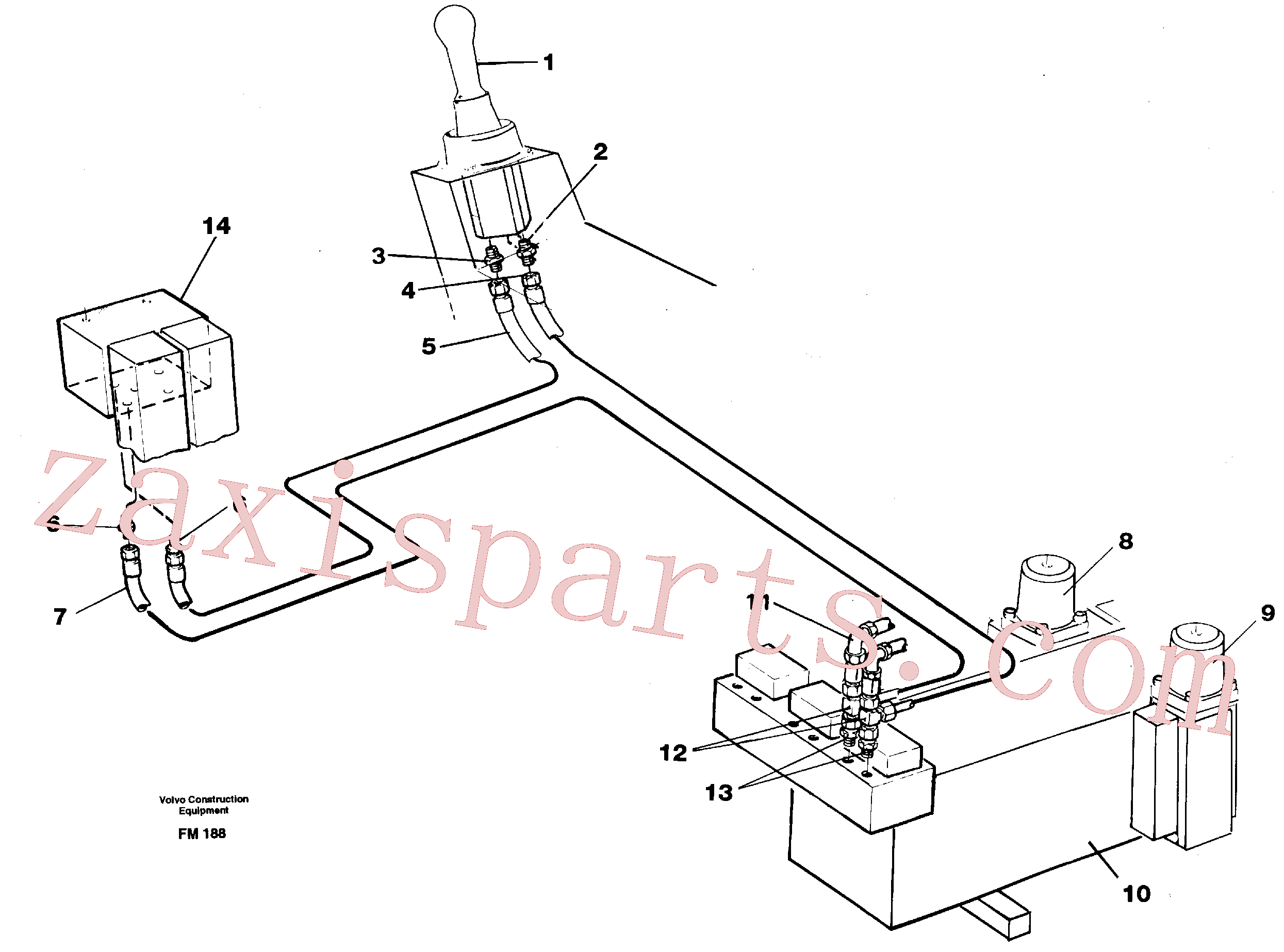 VOE14260323 for Volvo Servo hydraulics, dipper arm(FM188 assembly)