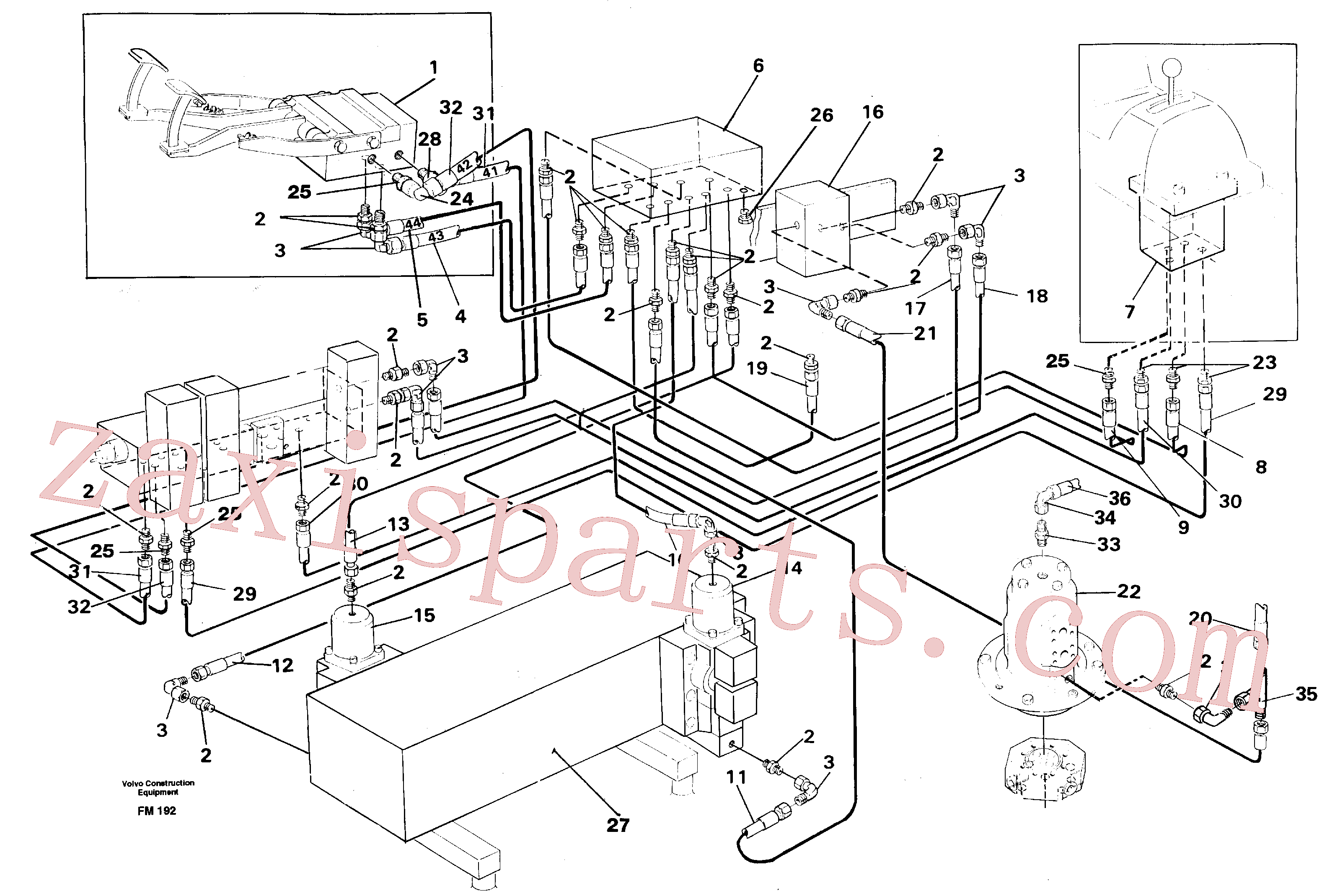 VOE14250295 for Volvo Travel motor hydraulics, superstructure(FM192 assembly)