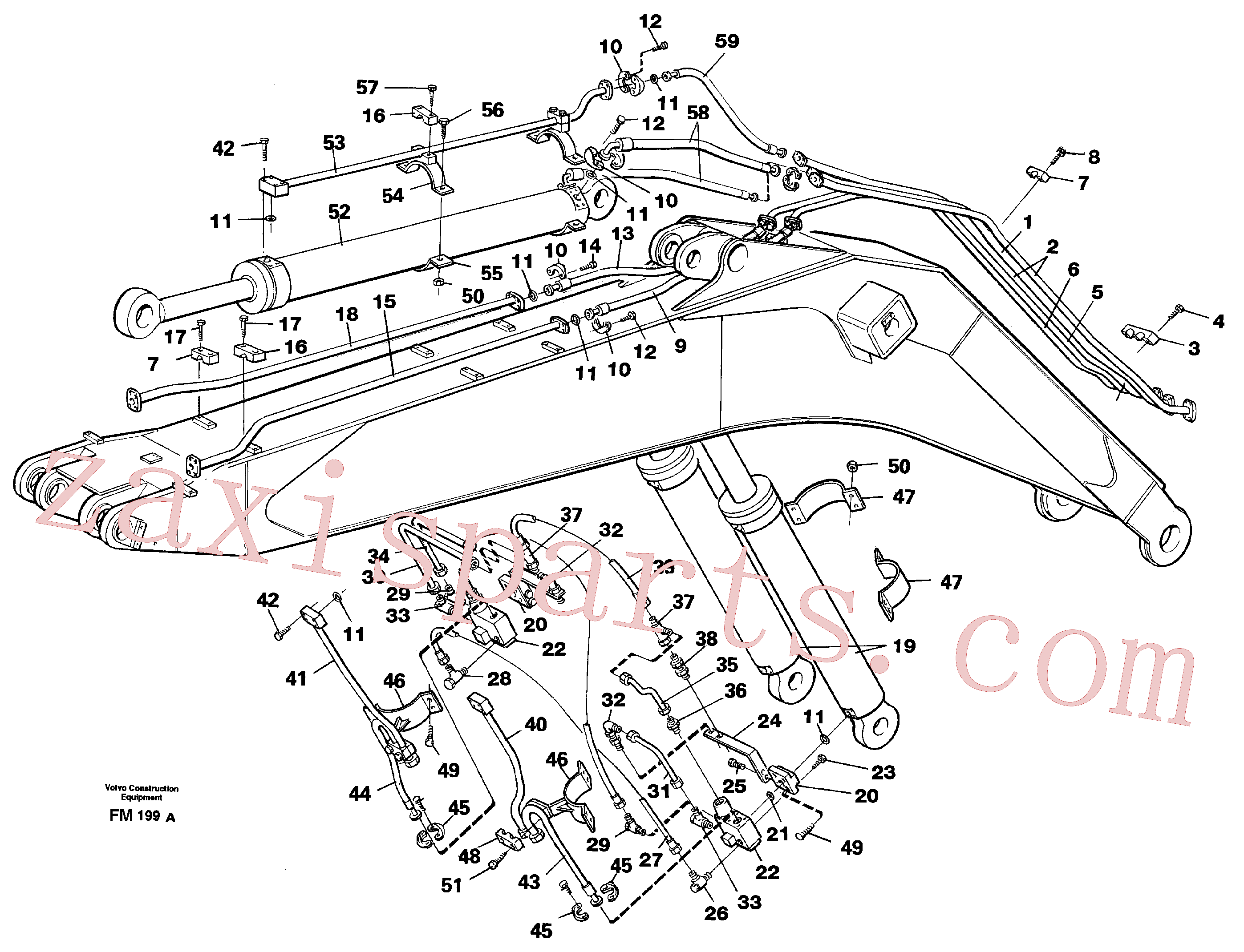 VOE14264707 for Volvo Hydraulic system, boom, 7,6m(FM199A assembly)