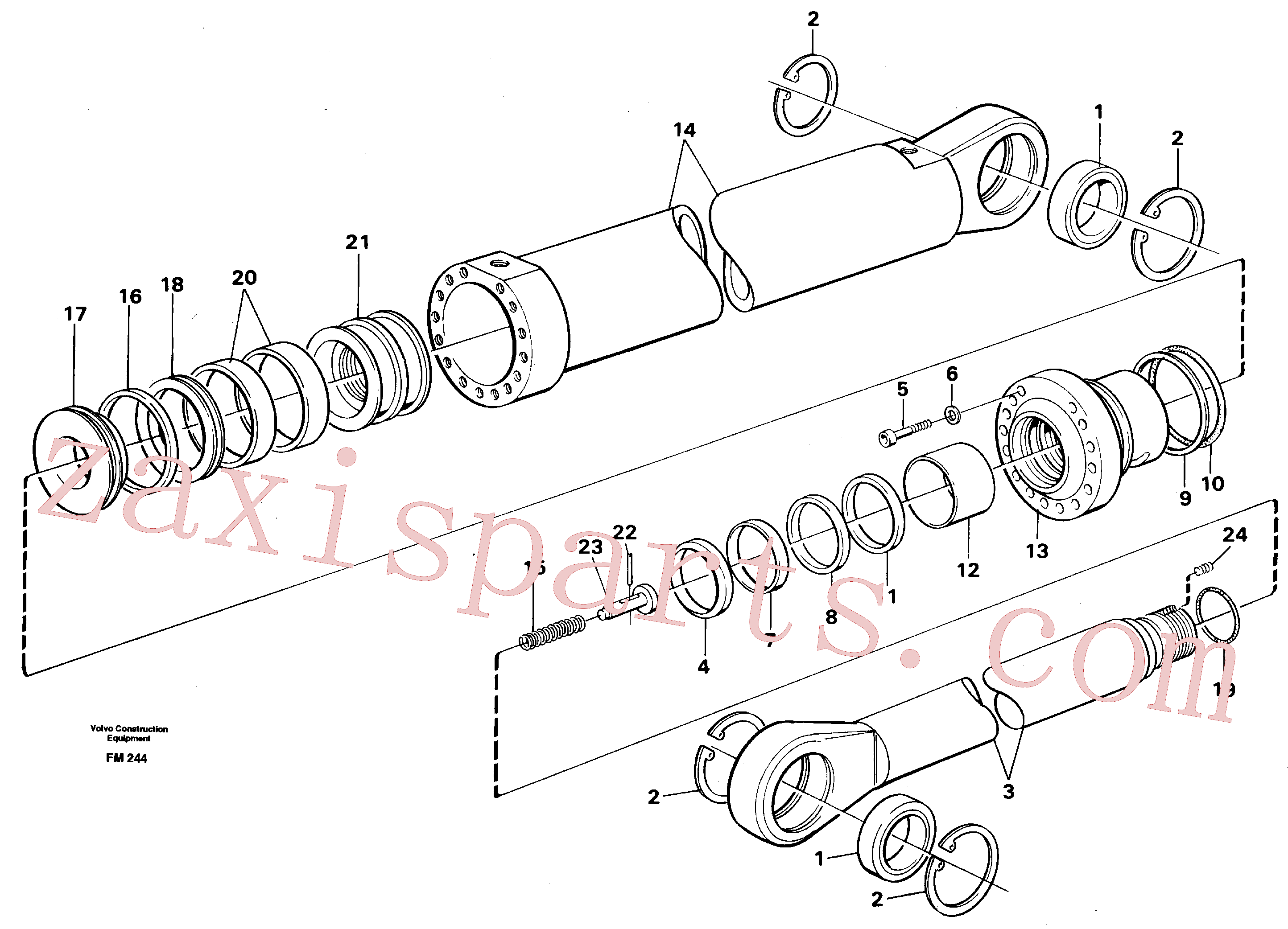 VOE14210876 for Volvo Boom cylinder,m.e.(FM244 assembly)