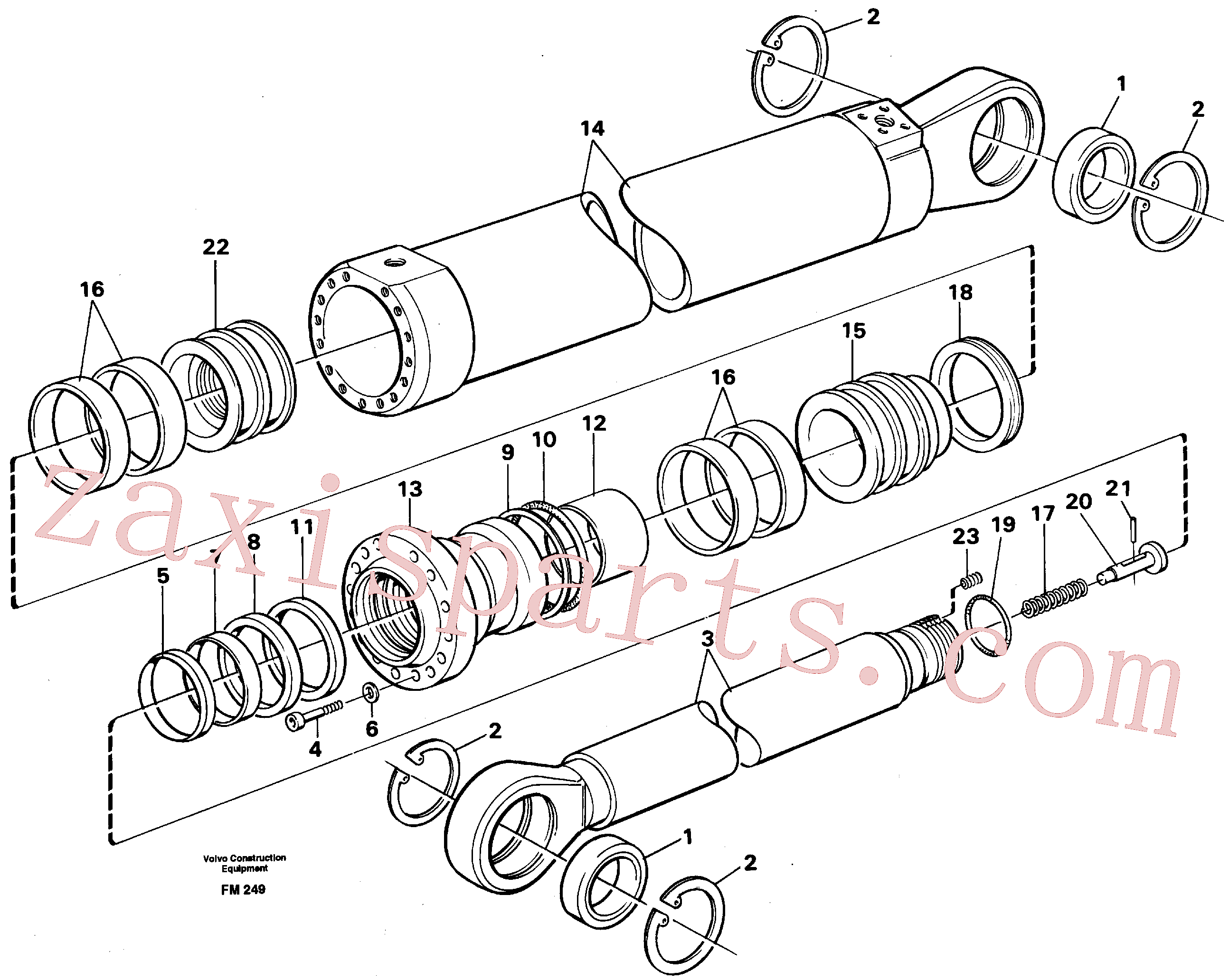 VOE14210876 for Volvo Dipper arm cylinder, material handling equipment(FM249 assembly)