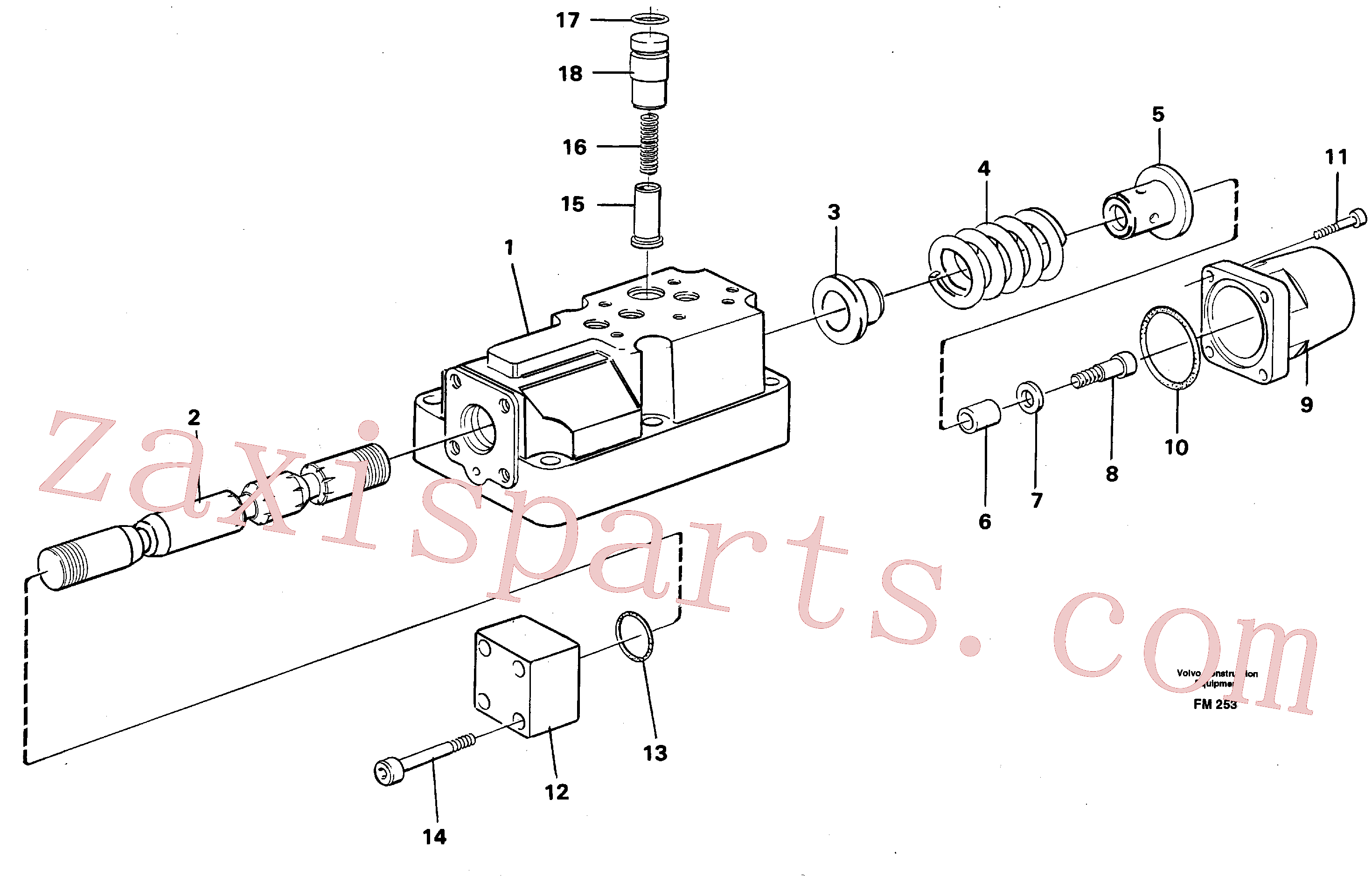VOE14234787 for Volvo Four-way valve(FM253 assembly)
