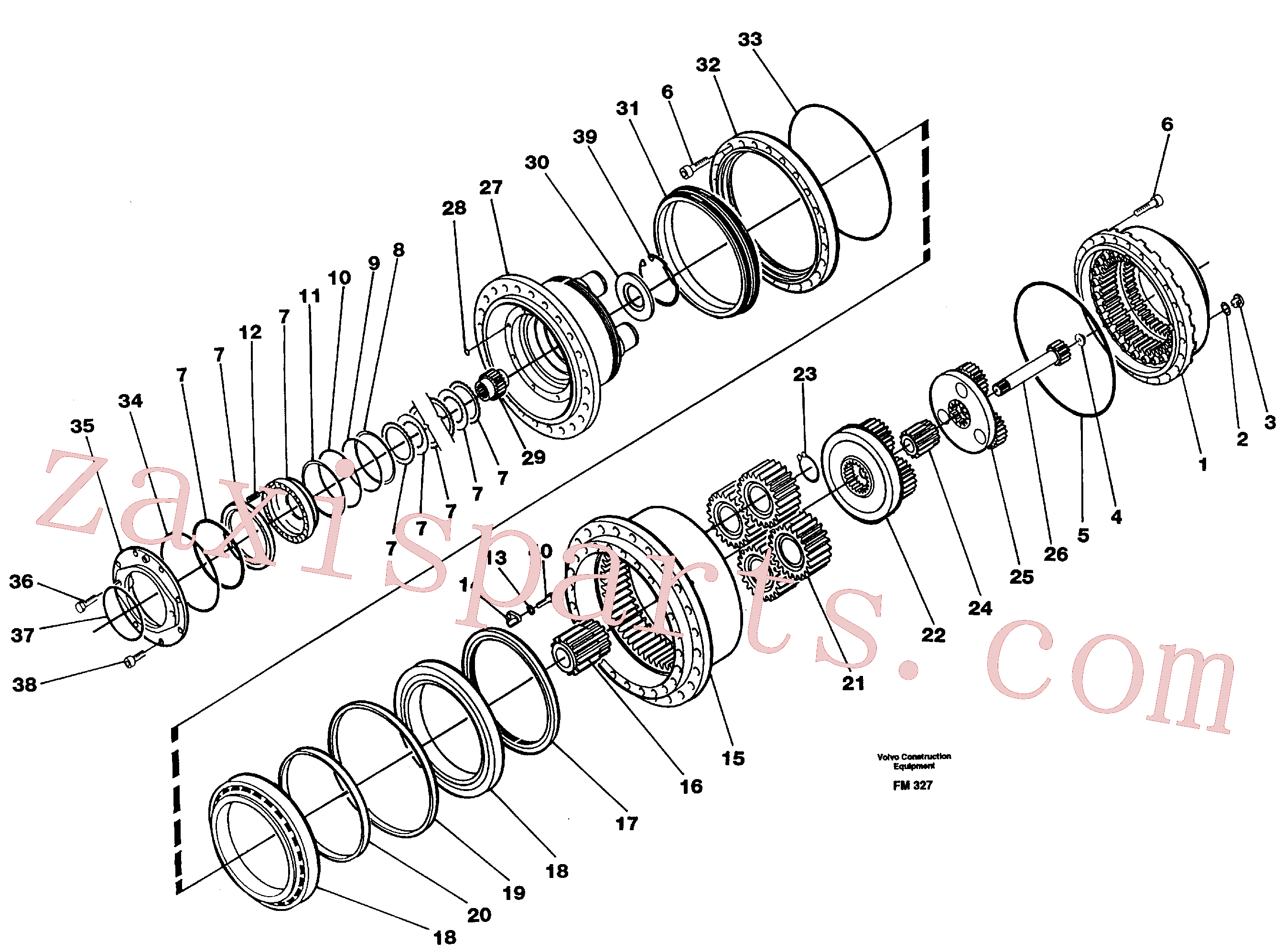 VOE14535315 for Volvo Planetary gear, travel(FM327 assembly)