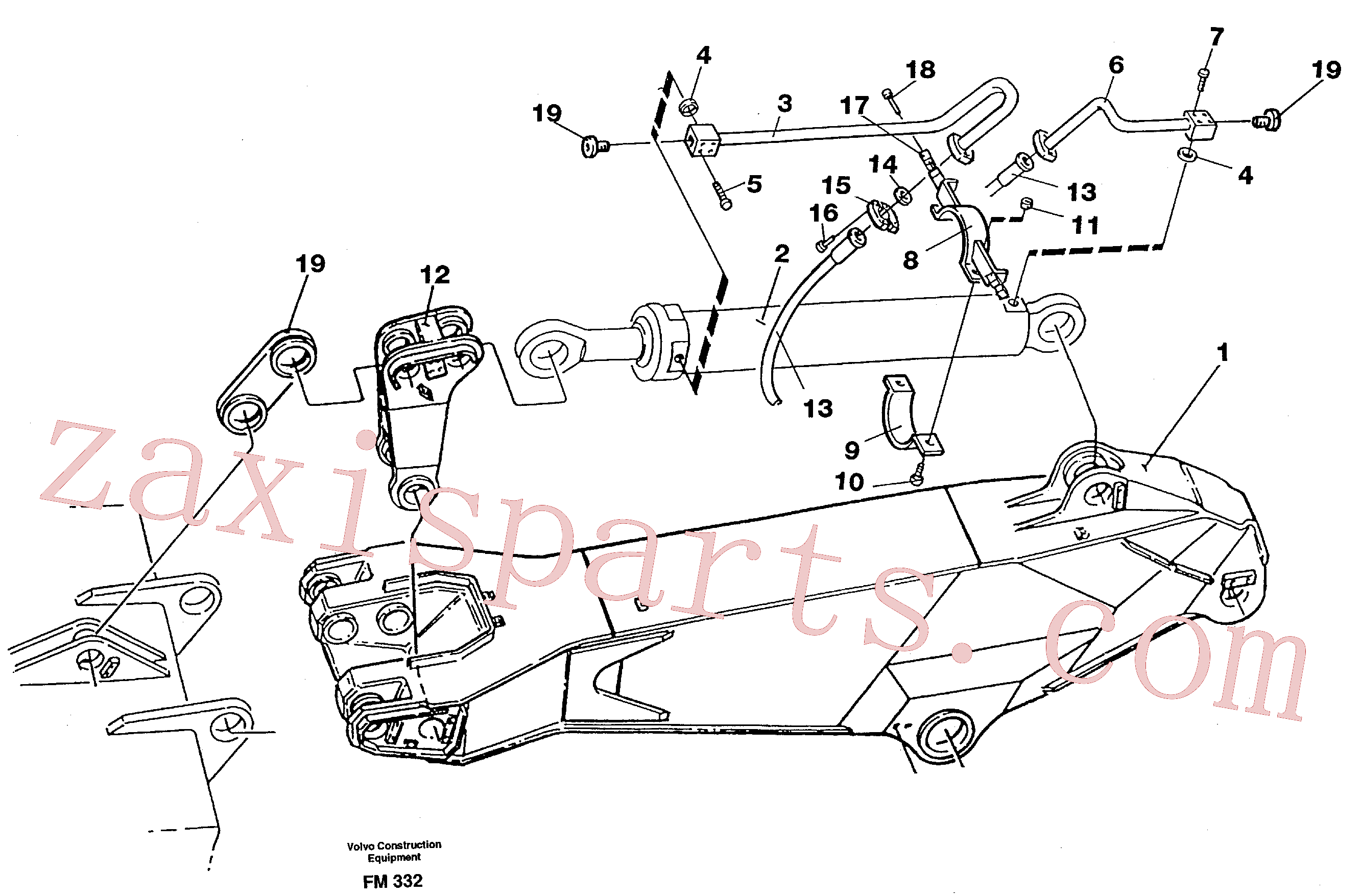 VOE14264061 for Volvo Hydraulic system, dipper arm 3.0 m(FM332 assembly)
