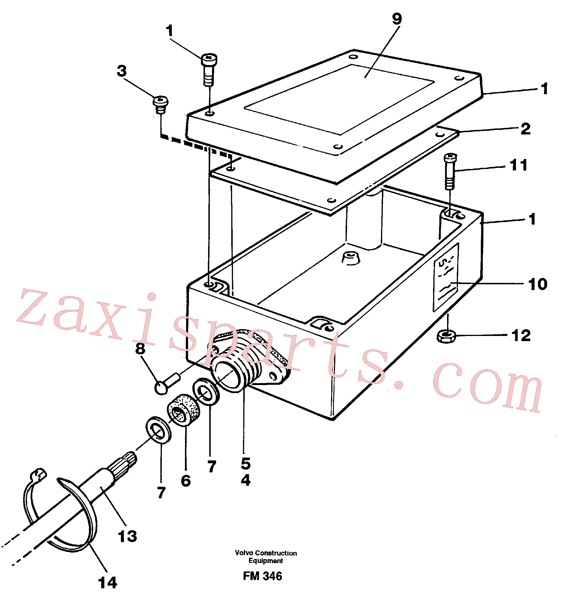VOE14242157 for Volvo Electric installation for load limiting device(FM346 assembly)