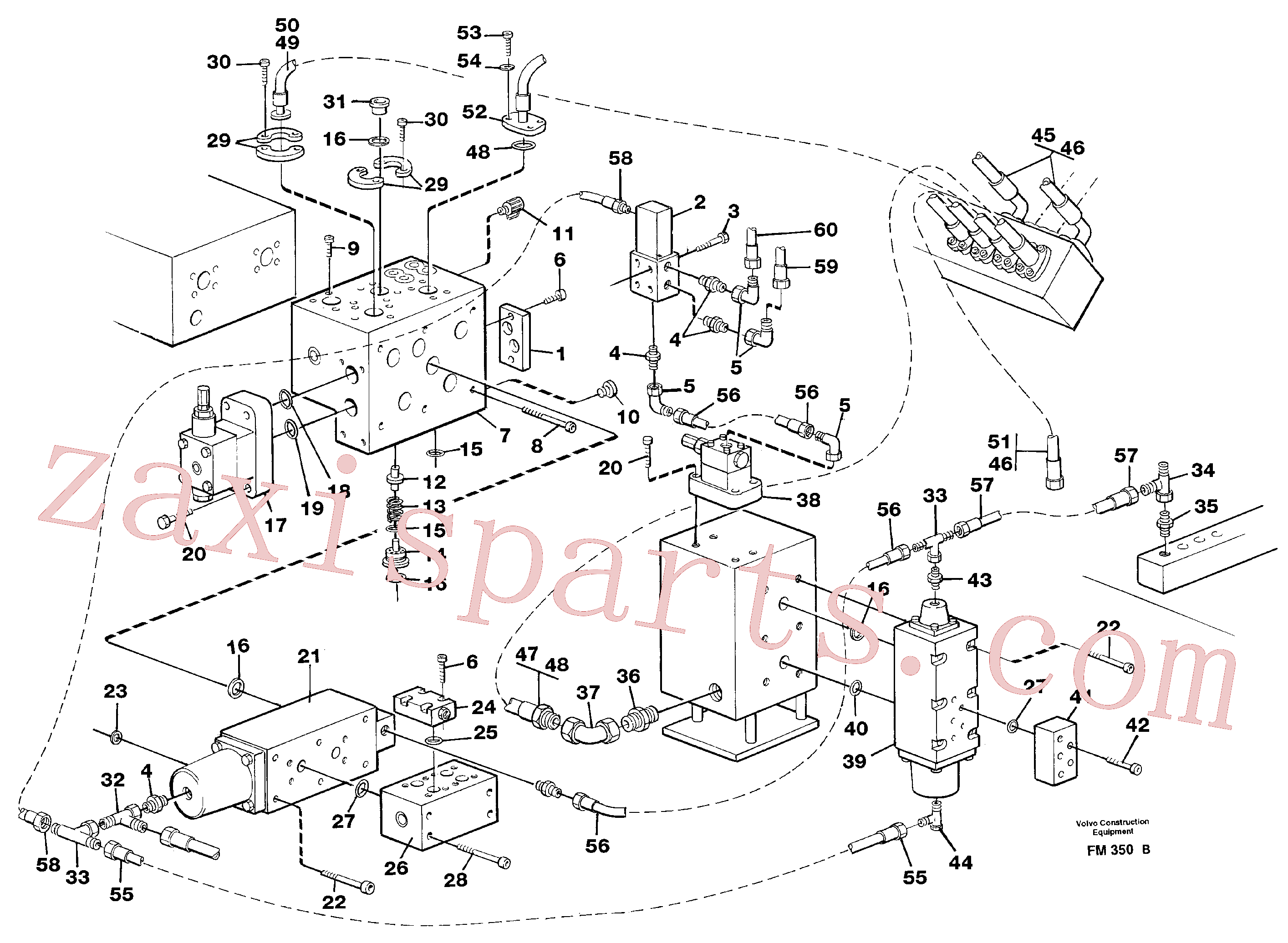 VOE14265516 for Volvo Hammer hydraulics on base machine(FM350B assembly)