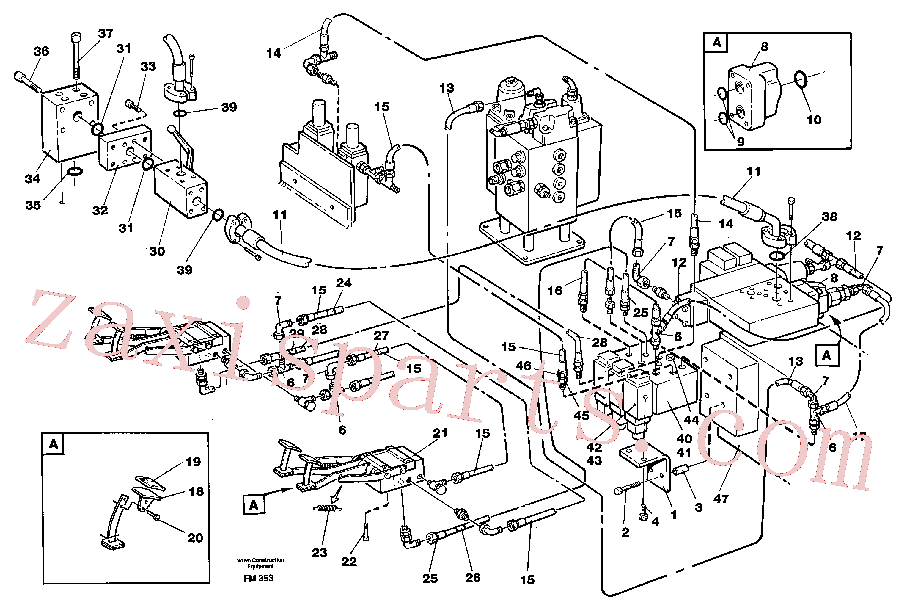 VOE14345203 for Volvo Shears/hammer hydraulics in base maschine(FM353 assembly)