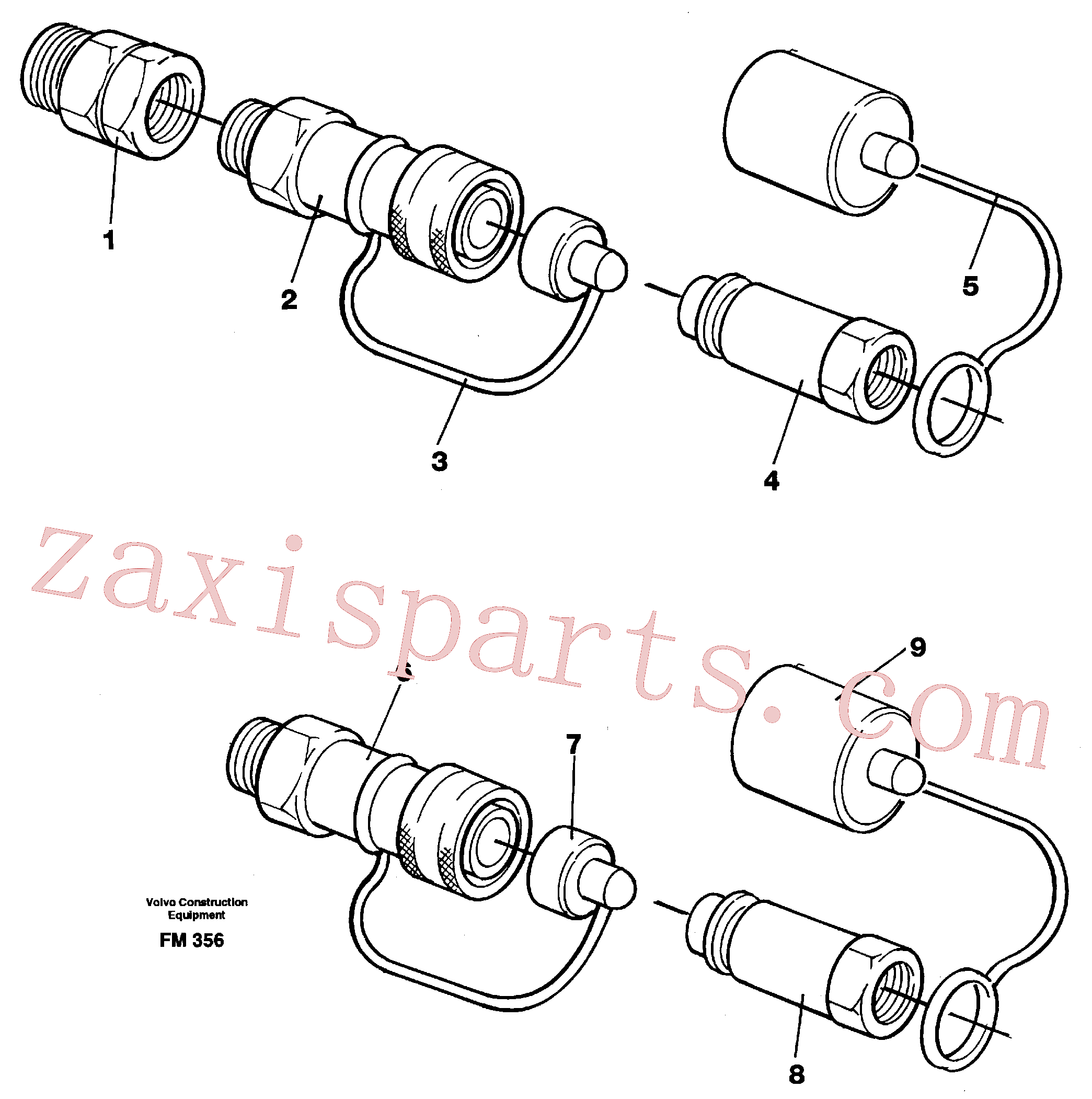 VOE14210942 for Volvo Quick connection kit, grab equipment(FM356 assembly)