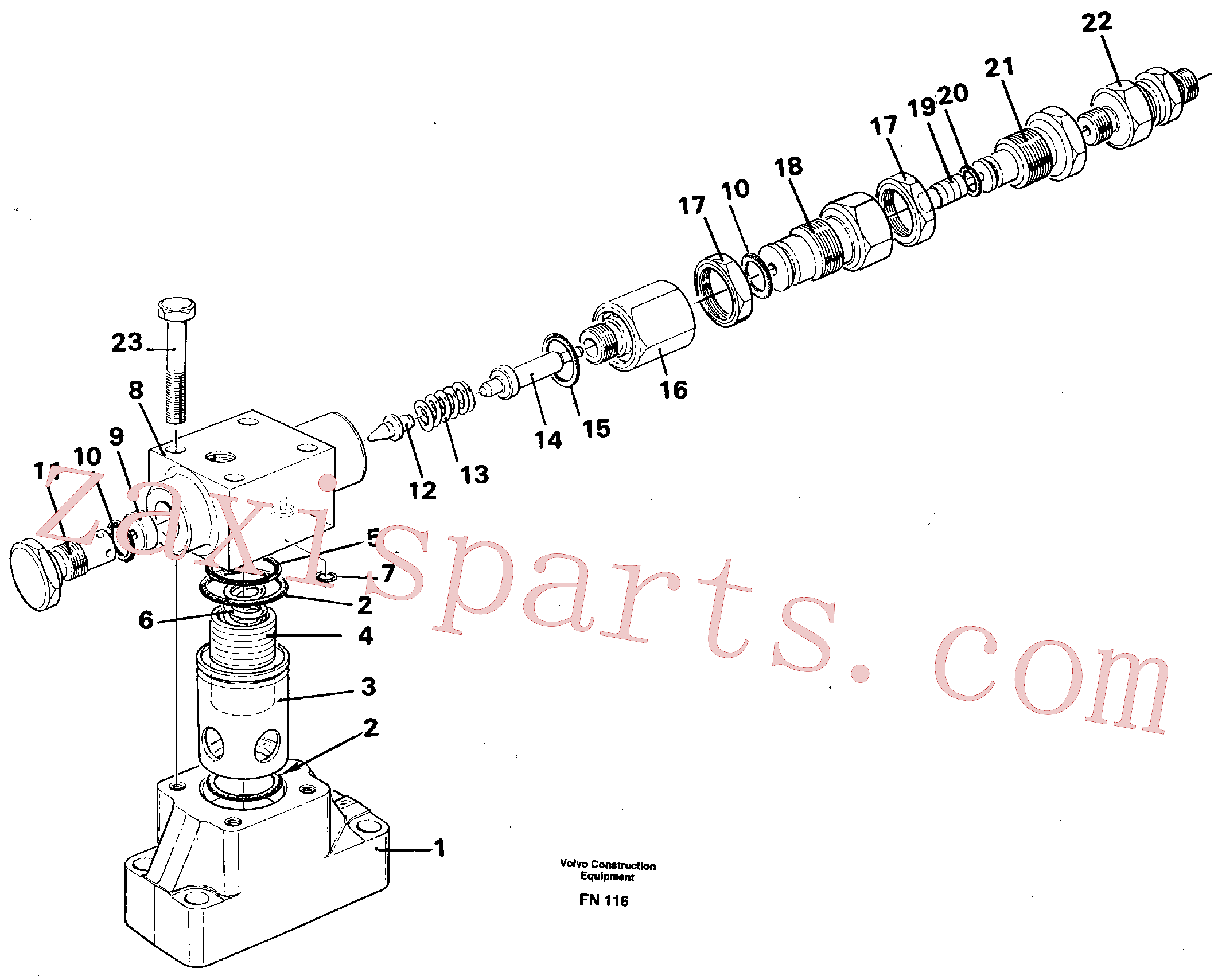VOE14340724 for Volvo Pressure limiting valve(FN116 assembly)