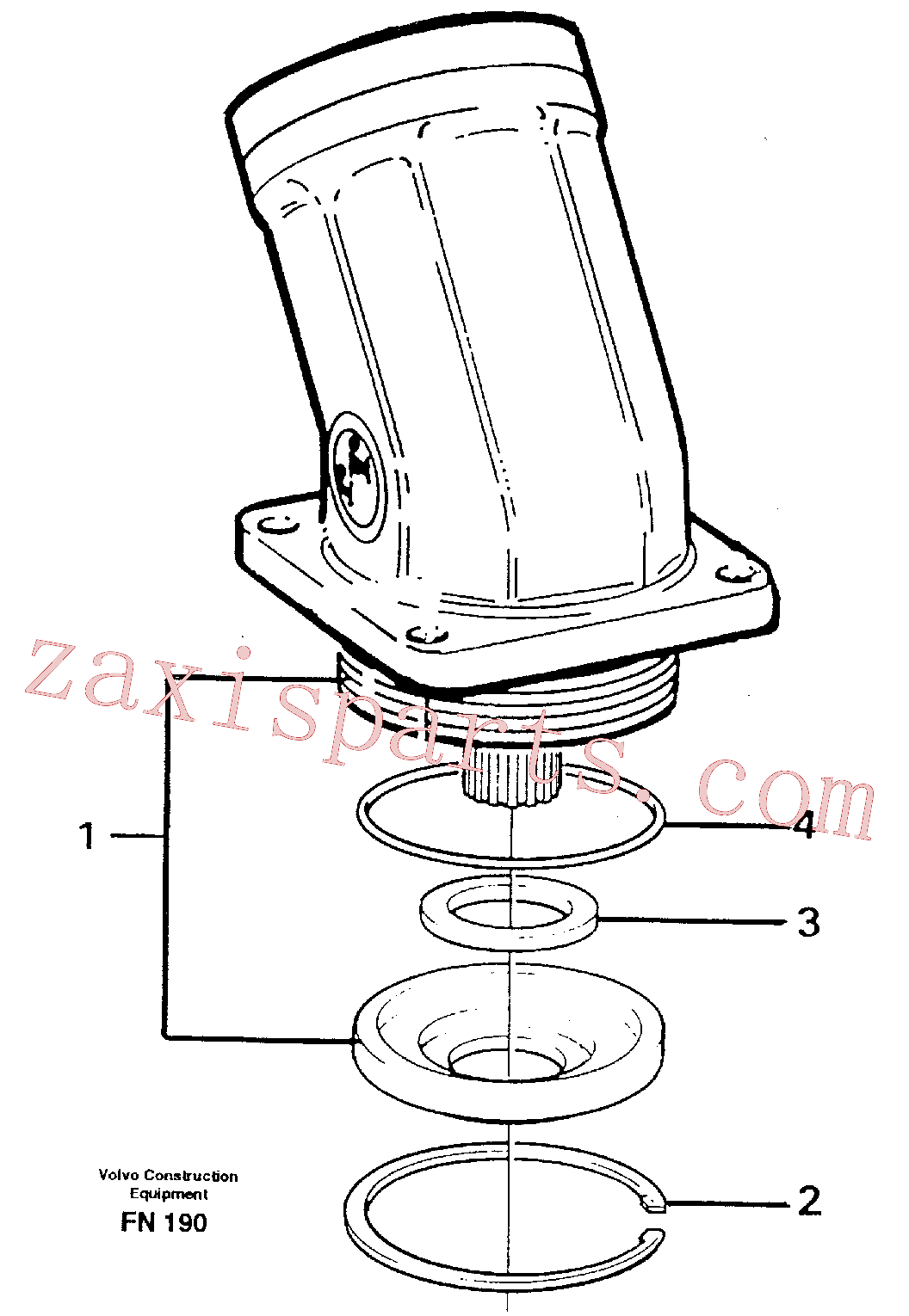 VOE7349689 for Volvo Hydraulic motor, slew(FN190 assembly)