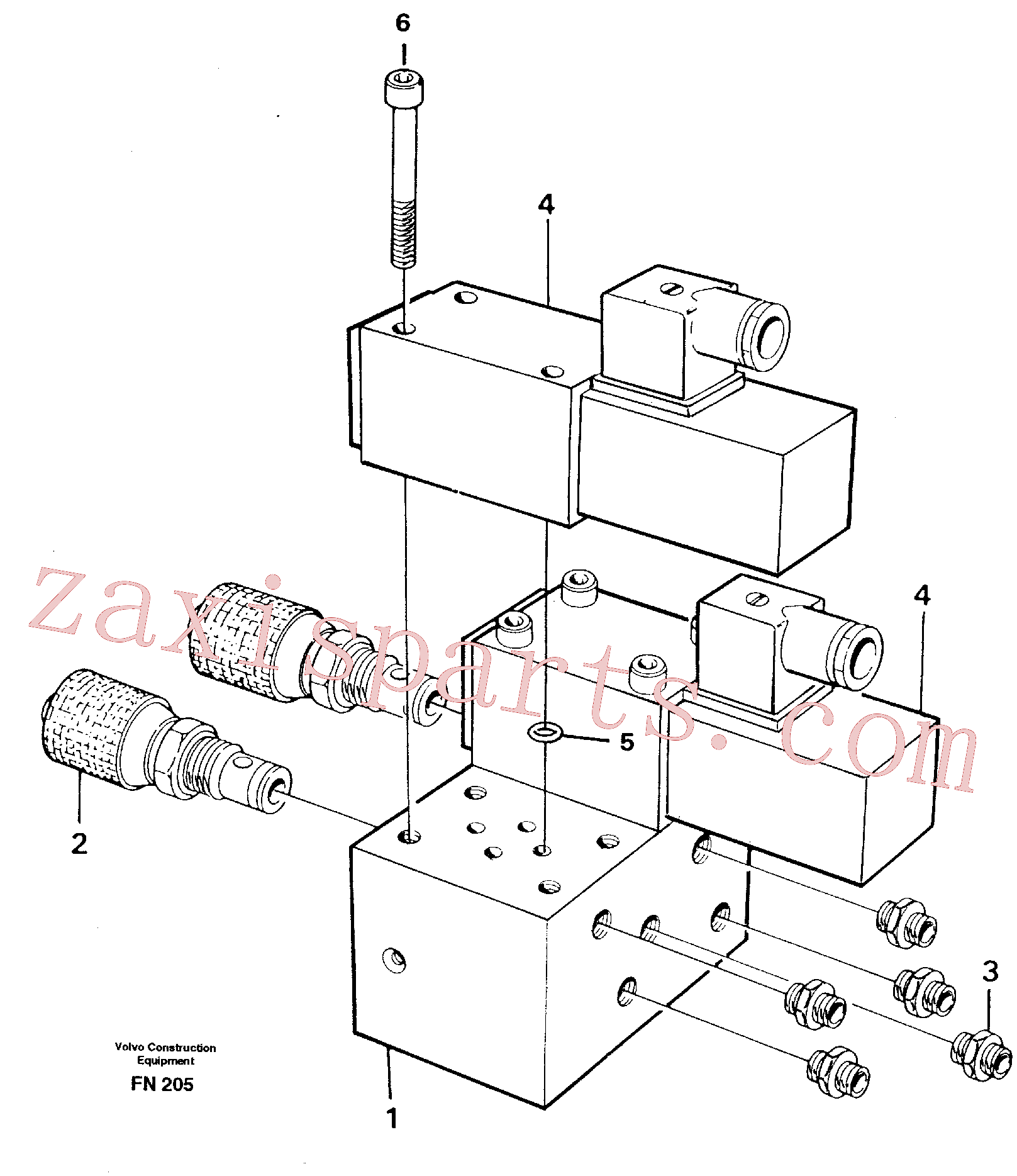 VOE11706958 for Volvo Control block for end position damp(FN205 assembly)