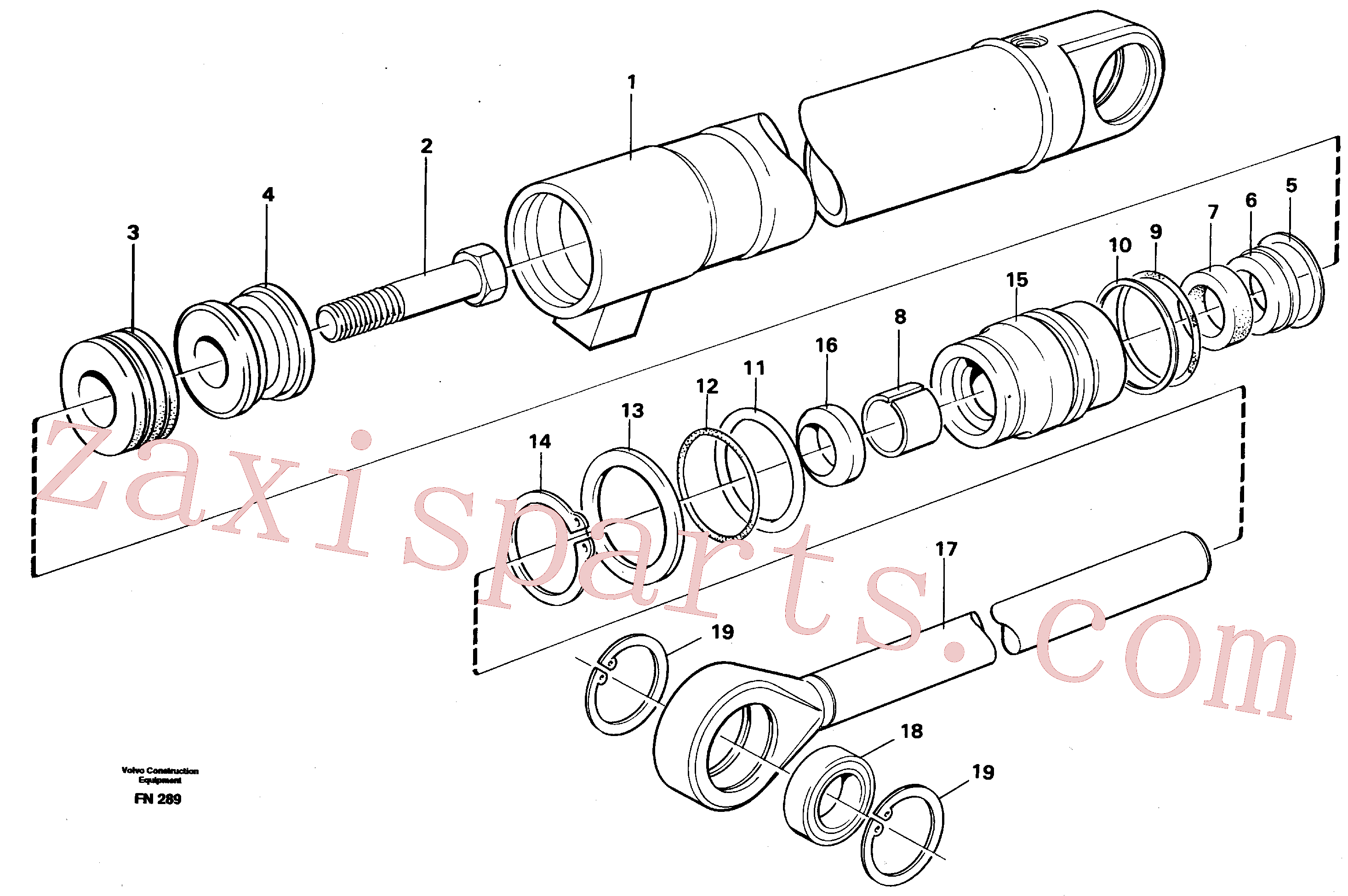 VOE14237791 for Volvo Hydraulic cylinder(FN289 assembly)