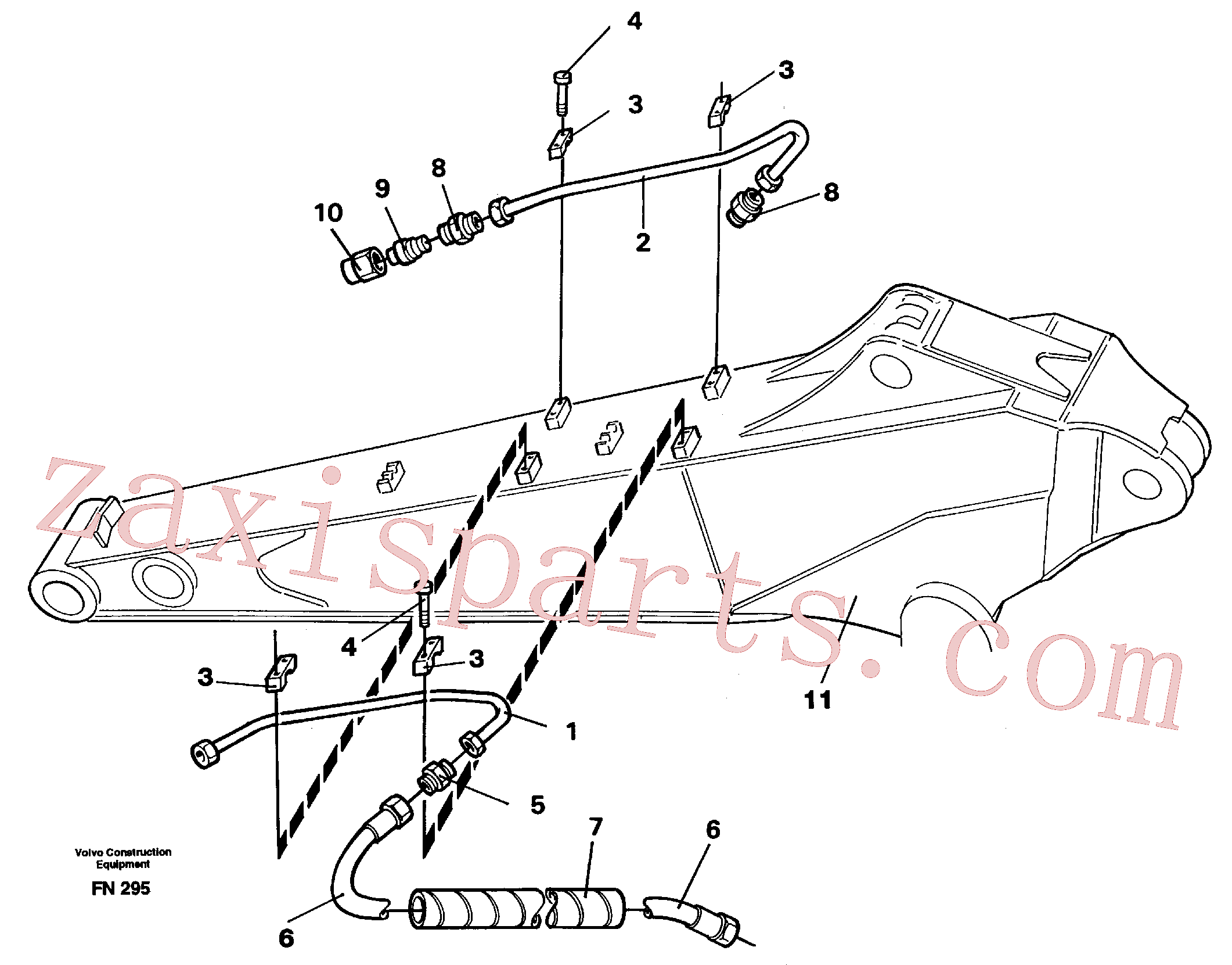 VOE14261809 for Volvo Slope bucket equipment, dipper arm(FN295 assembly)