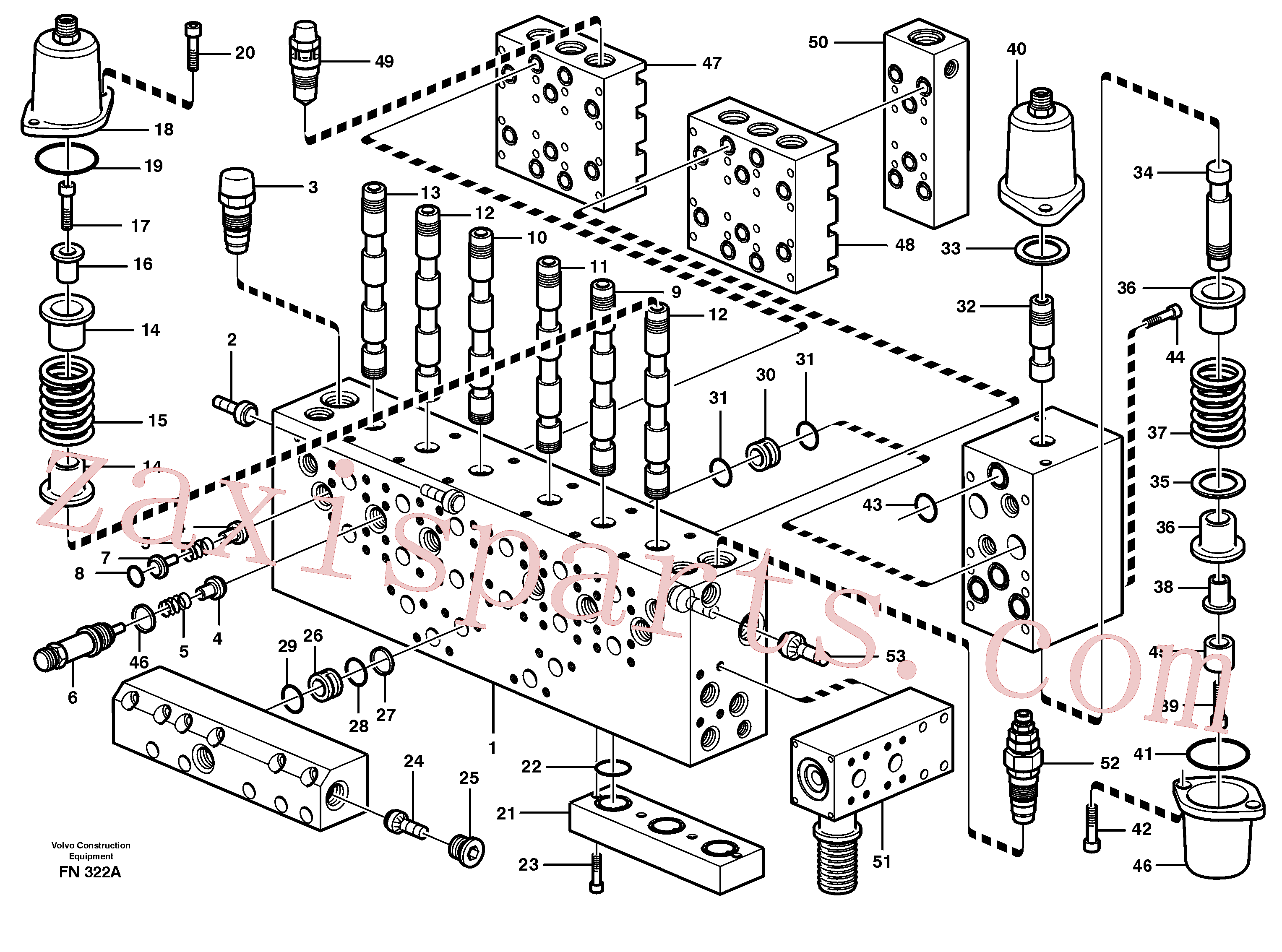 VOE14342322 for Volvo Main valve assembly, valves(FN322A assembly)