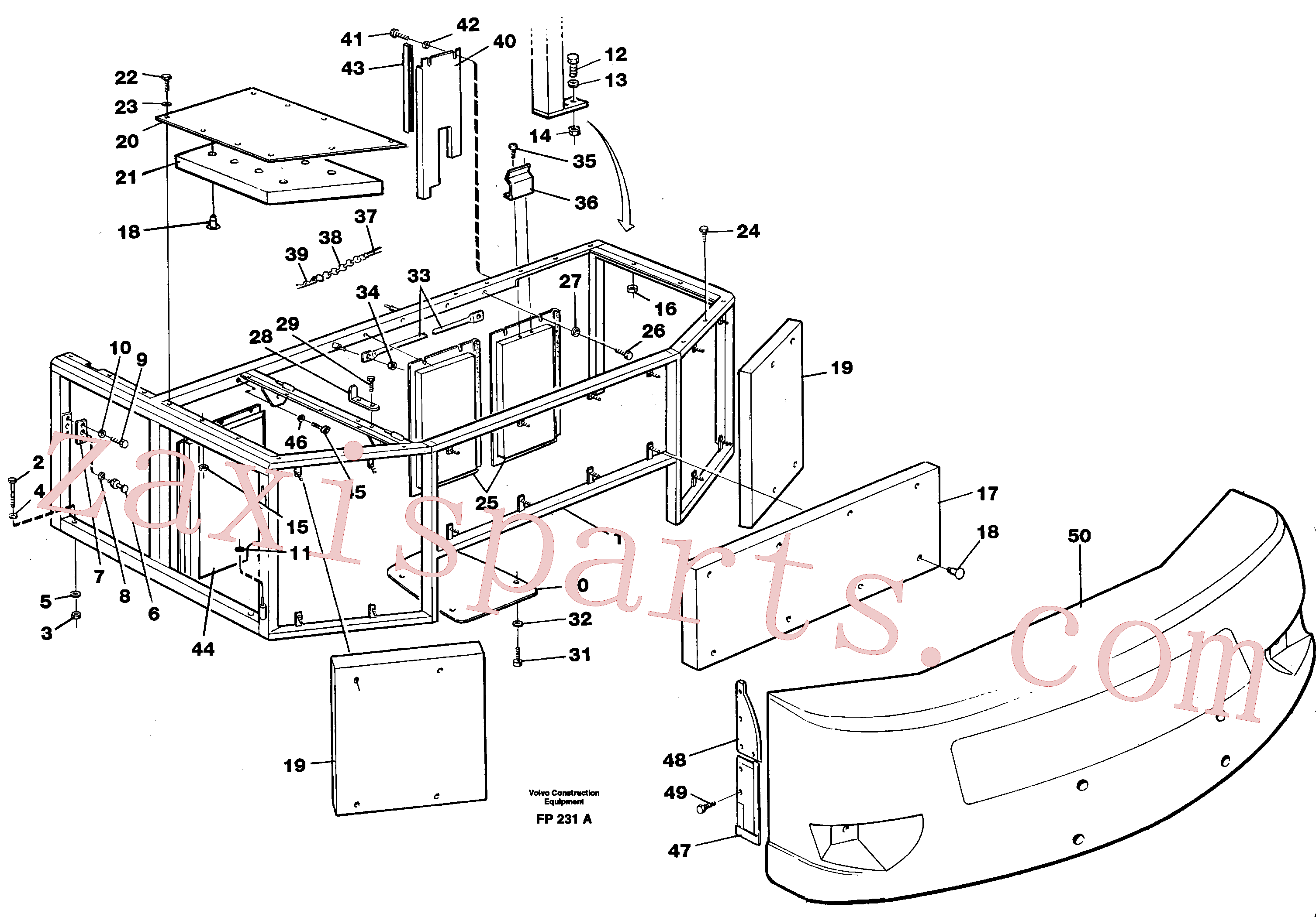 VOE14042729 for Volvo Support, cover plates, rear(FP231A assembly)