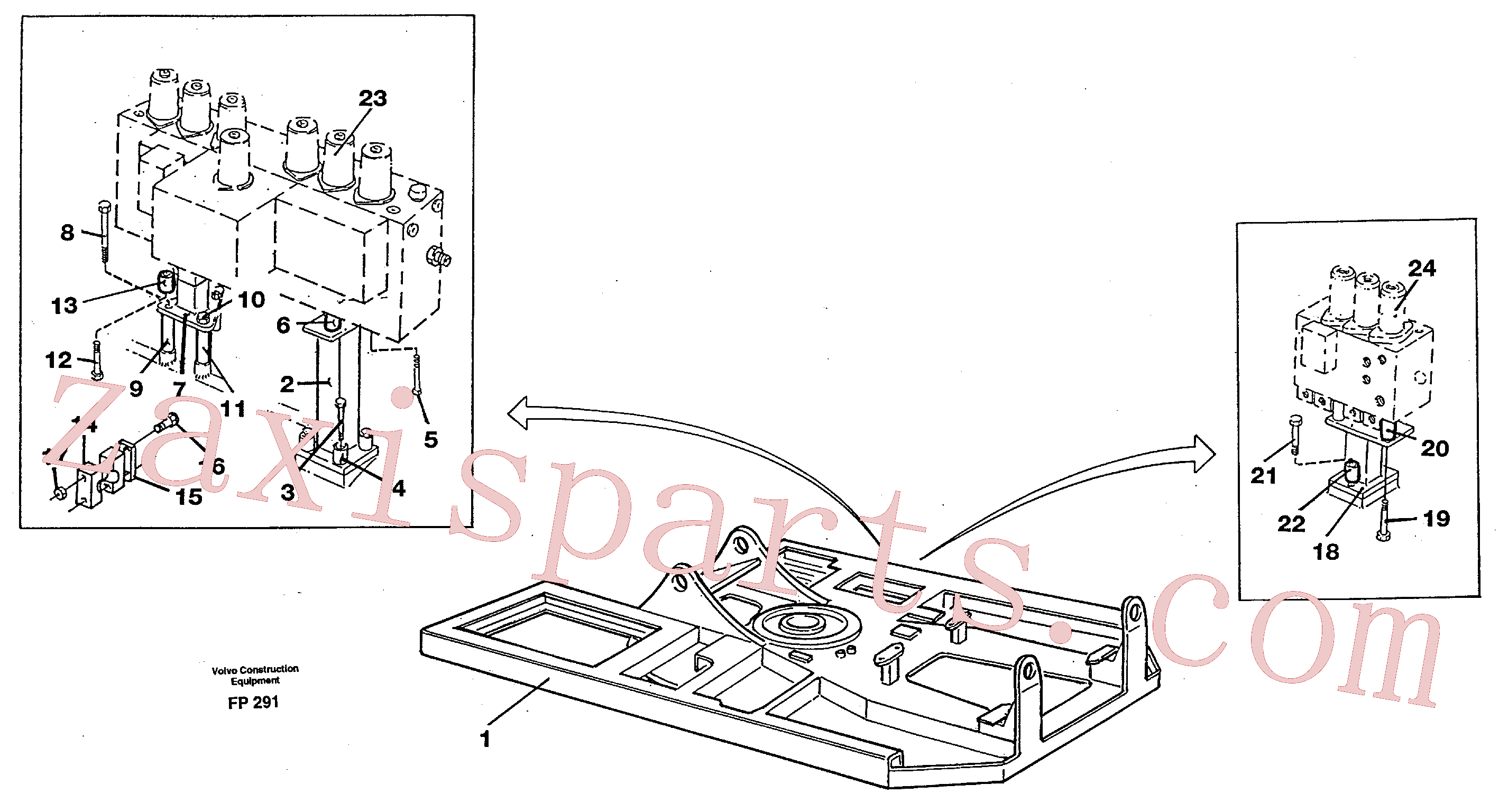 VOE970983 for Volvo Superstructure(FP291 assembly)
