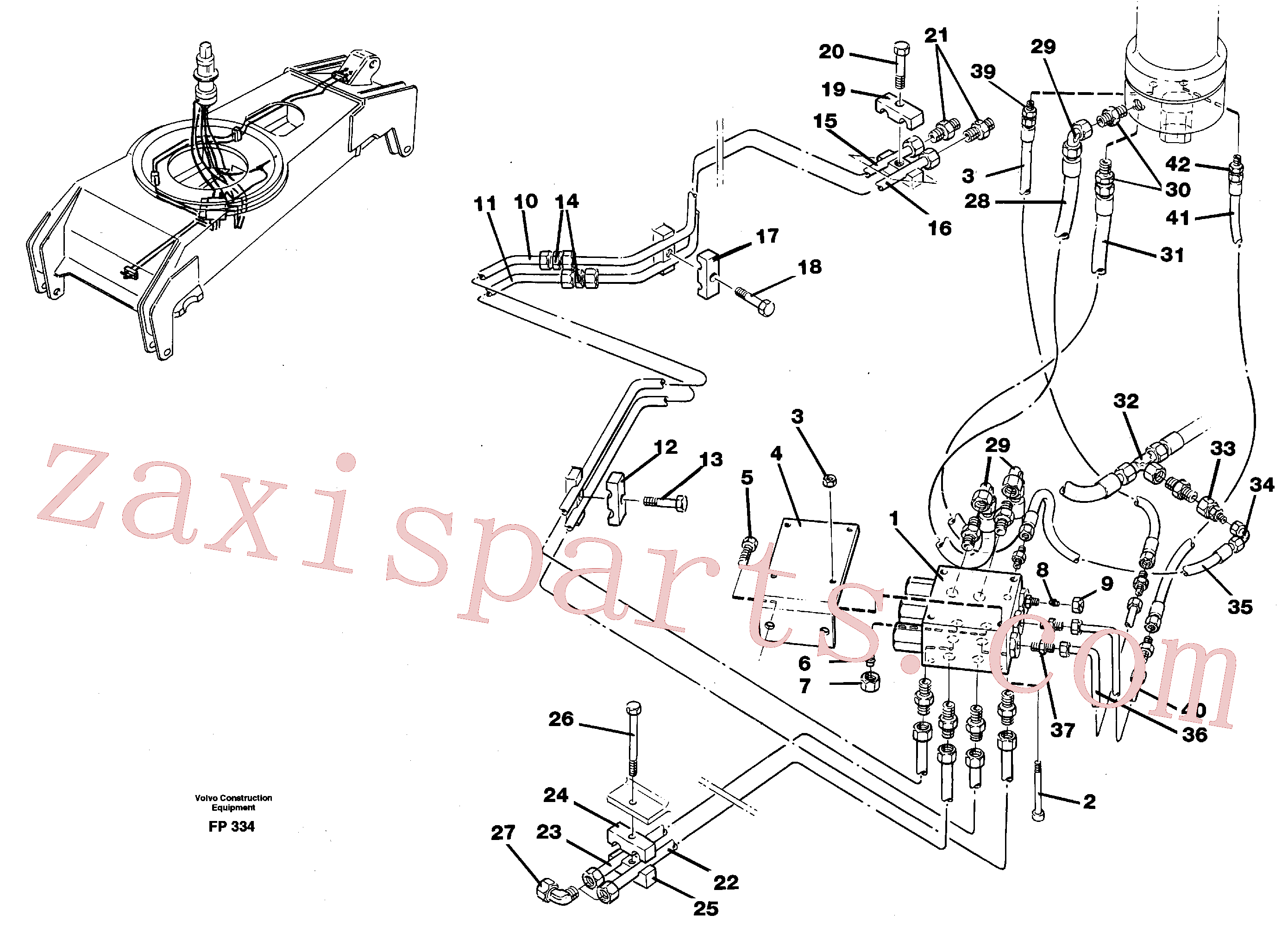 VOE14213275 for Volvo Hydraulicsystem, dozerblade,front and rear(FP334 assembly)