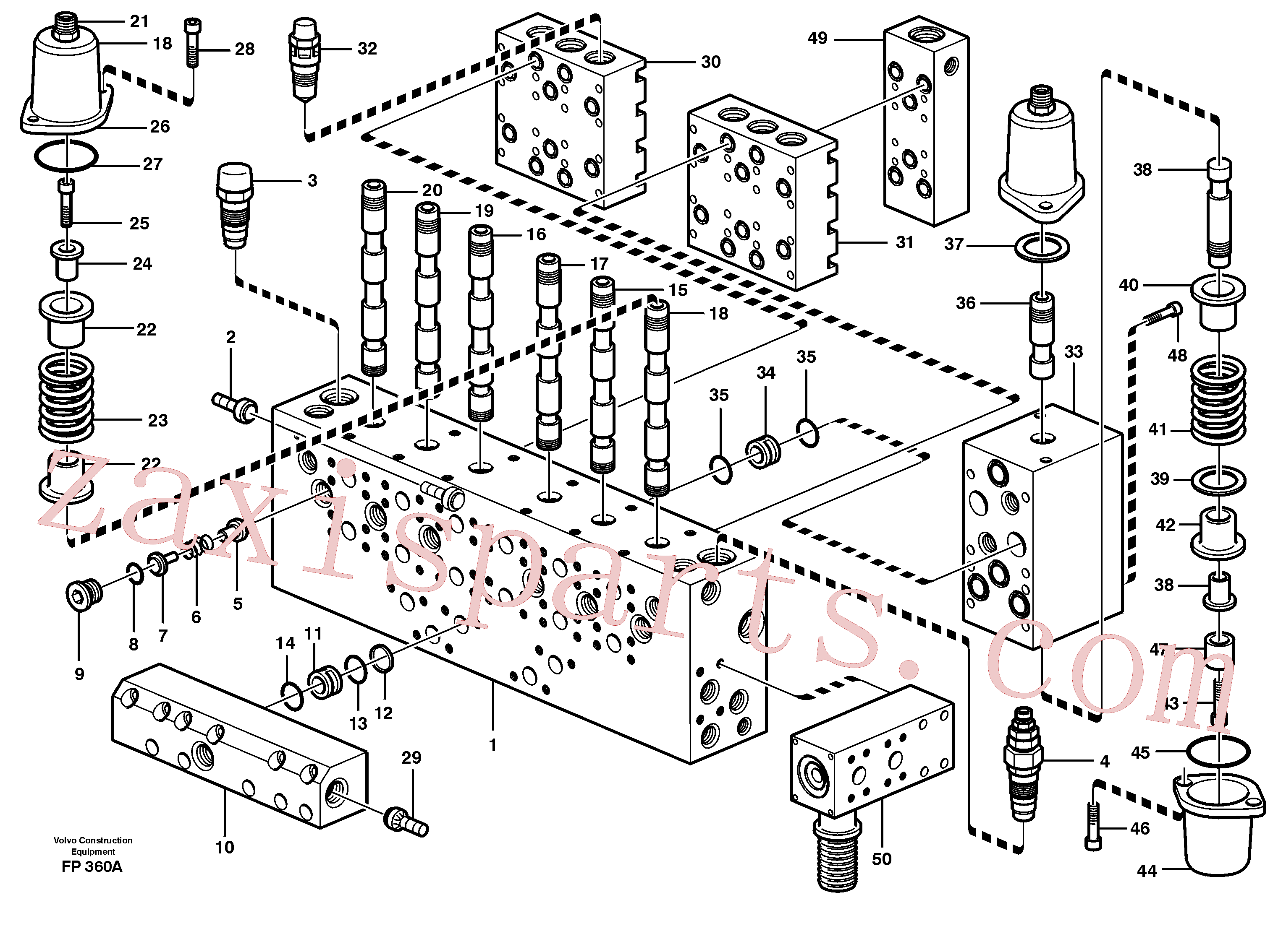 VOE14342322 for Volvo Main valve assembly, valves(FP360A assembly)