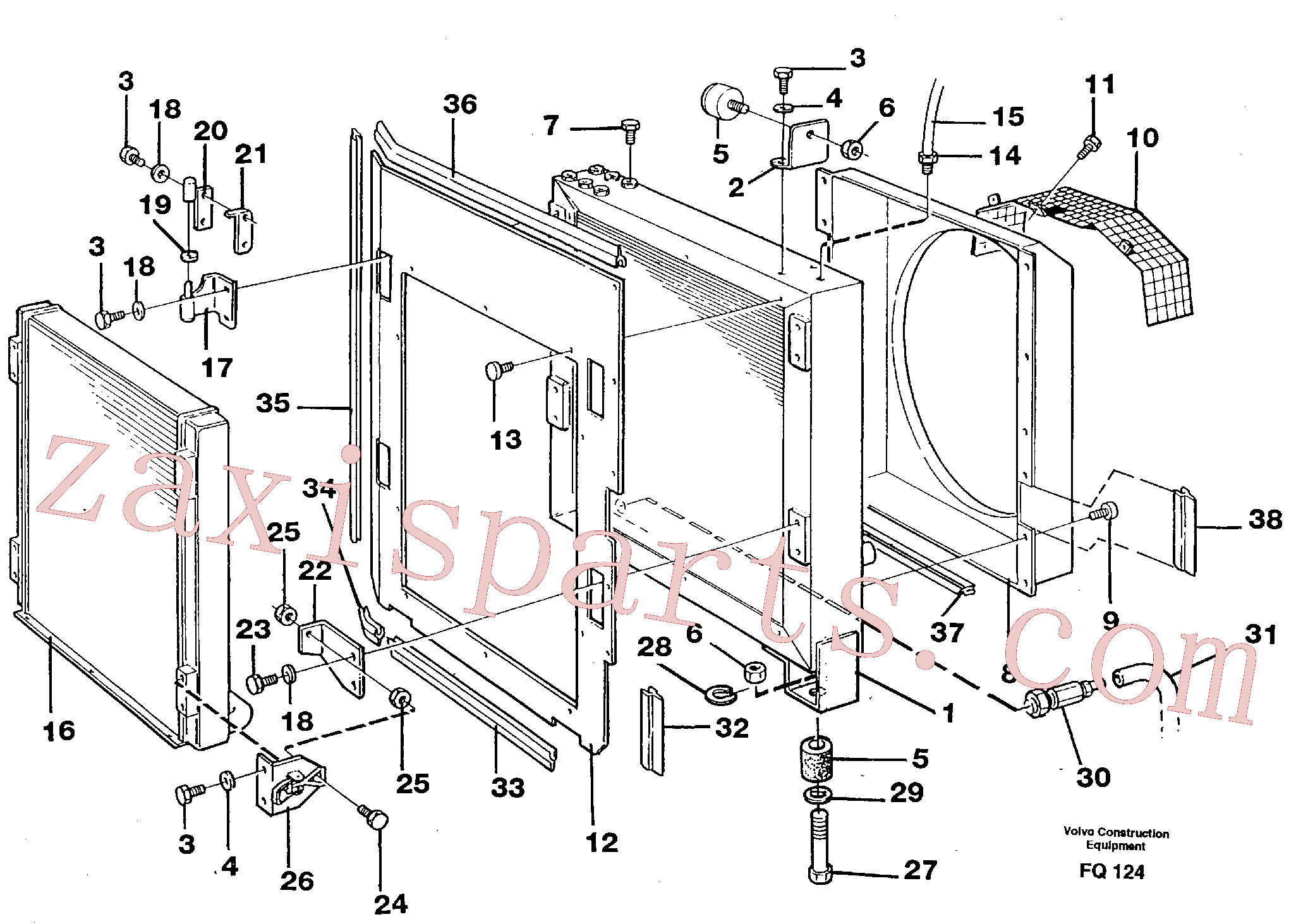 VOE14259202 for Volvo Hydraulic oil cooler, Radiator set(FQ124 assembly)