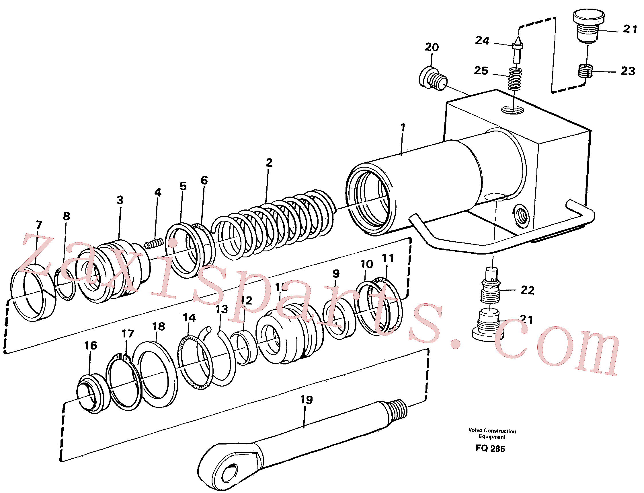 VOE14040036 for Volvo Hydraulic cylinder, quick attachment(FQ286 assembly)