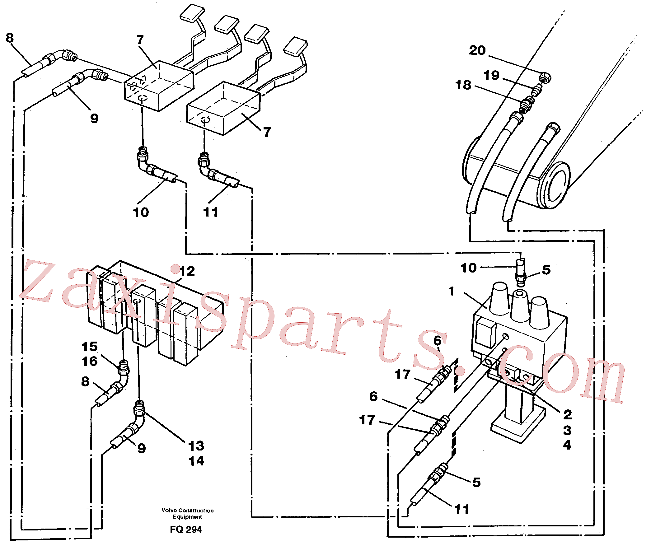 VOE14250294 for Volvo Slope bucket/rotator equipment for mono-boom in base machine(FQ294 assembly)