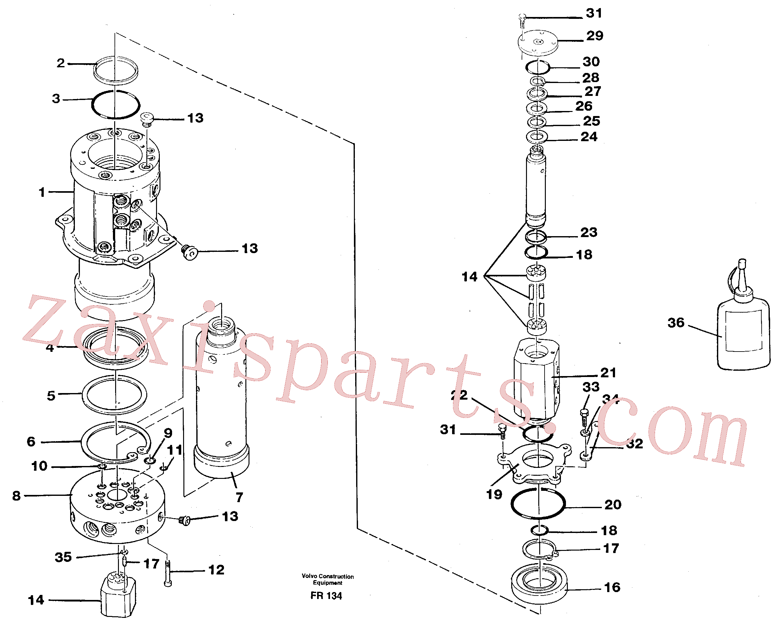 VOE925076 for Volvo Turning joint(FR134 assembly)