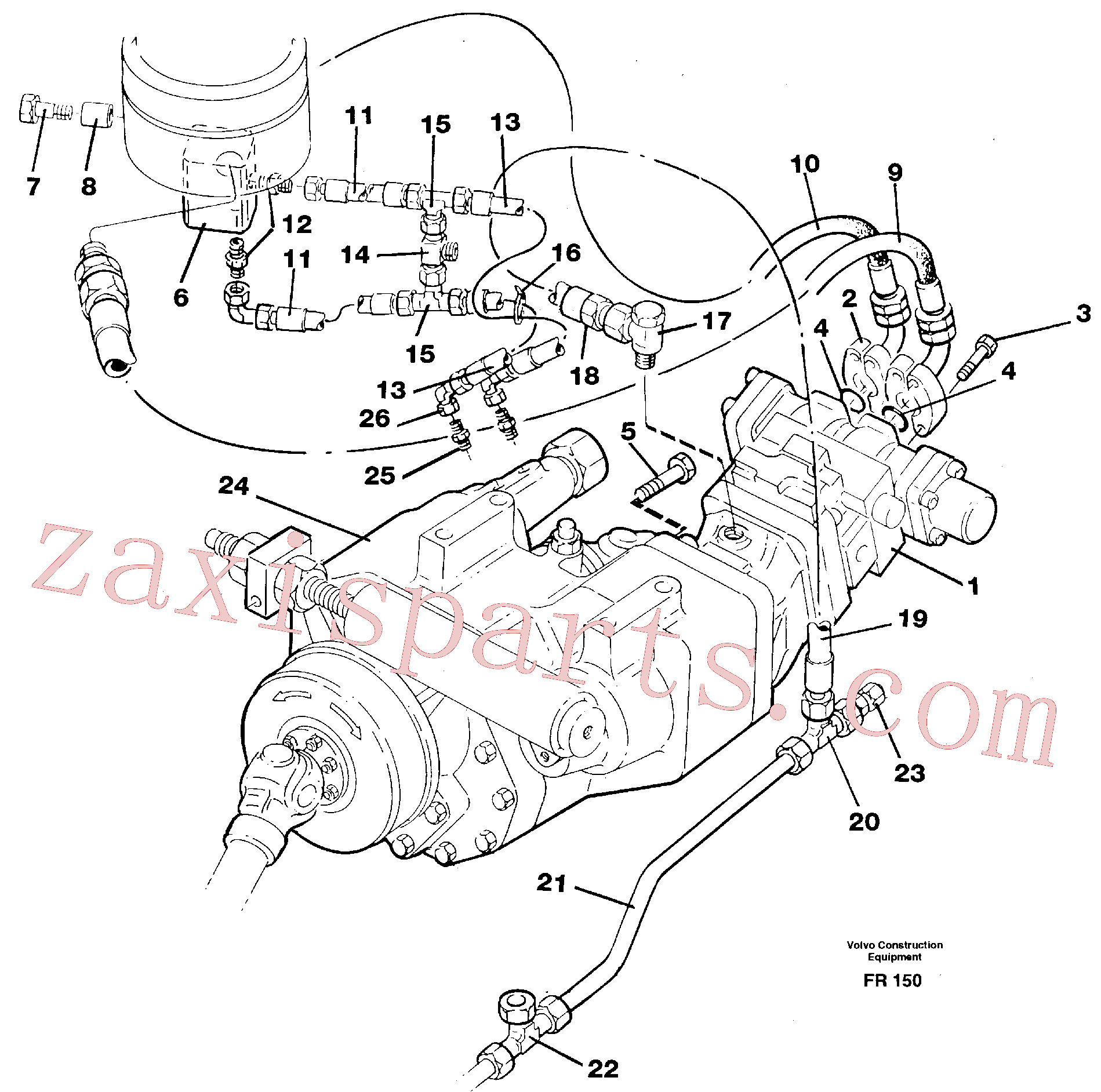 VOE14251026 for Volvo Hydraulic system, transport in undercarrige(FR150 assembly)