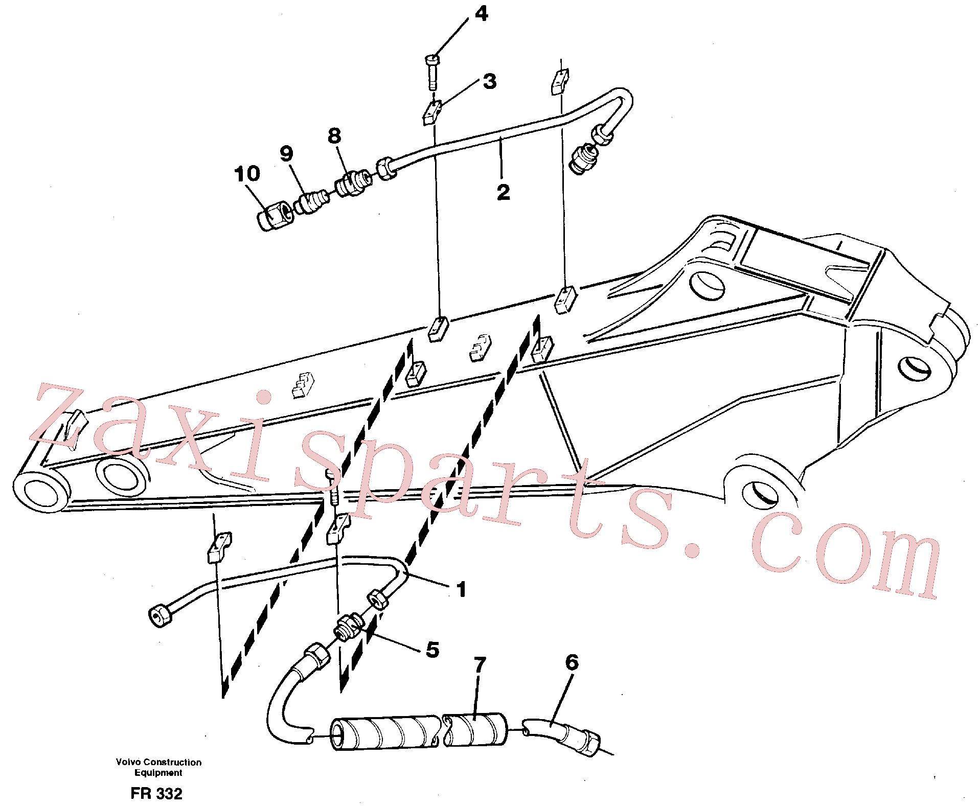 VOE14261809 for Volvo Slope bucket equipment on dipper arm, 1.9m/2.4m(FR332 assembly)