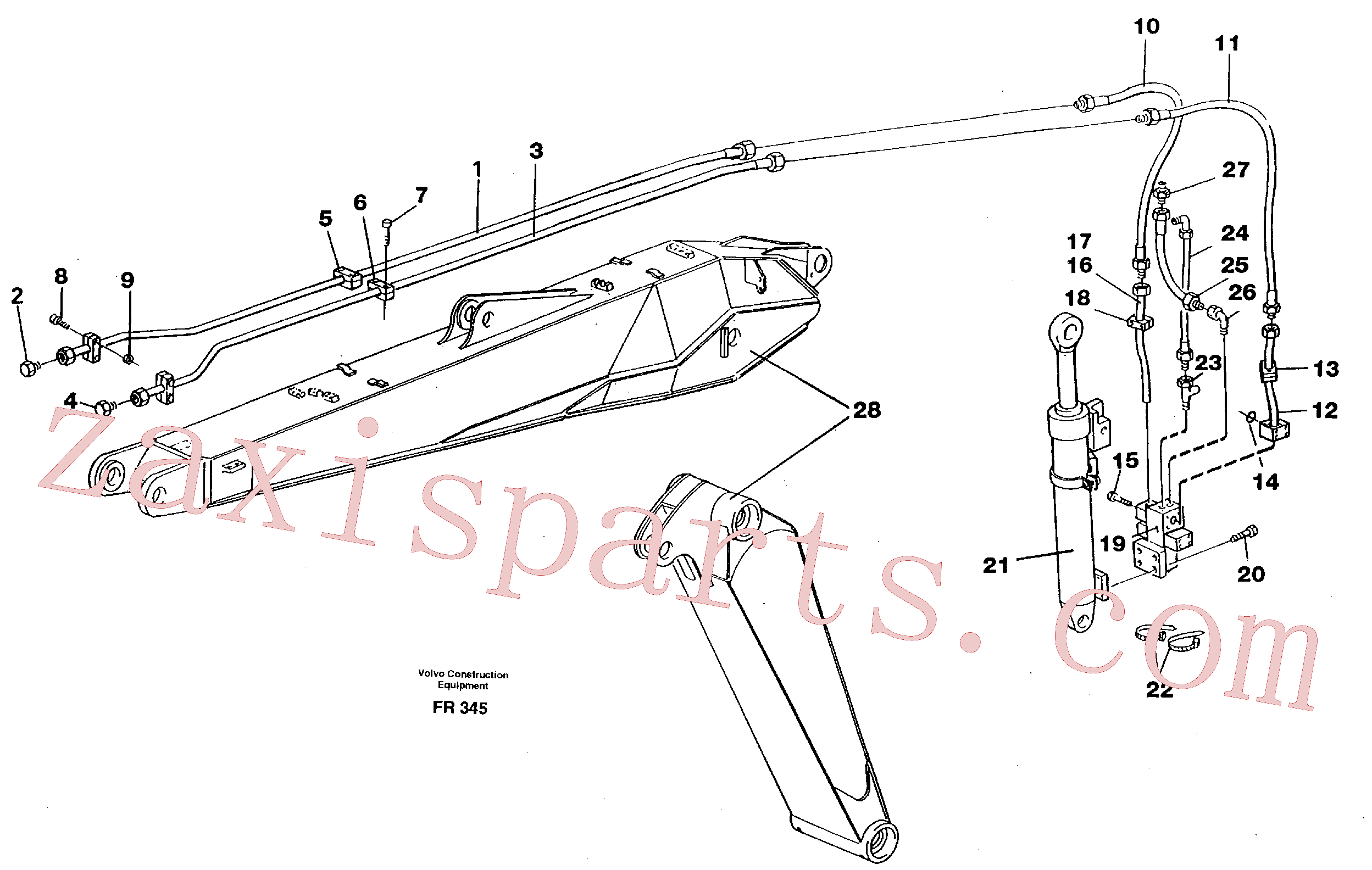 VOE14252837 for Volvo Hammerequipment on adjustable boom(FR345 assembly)