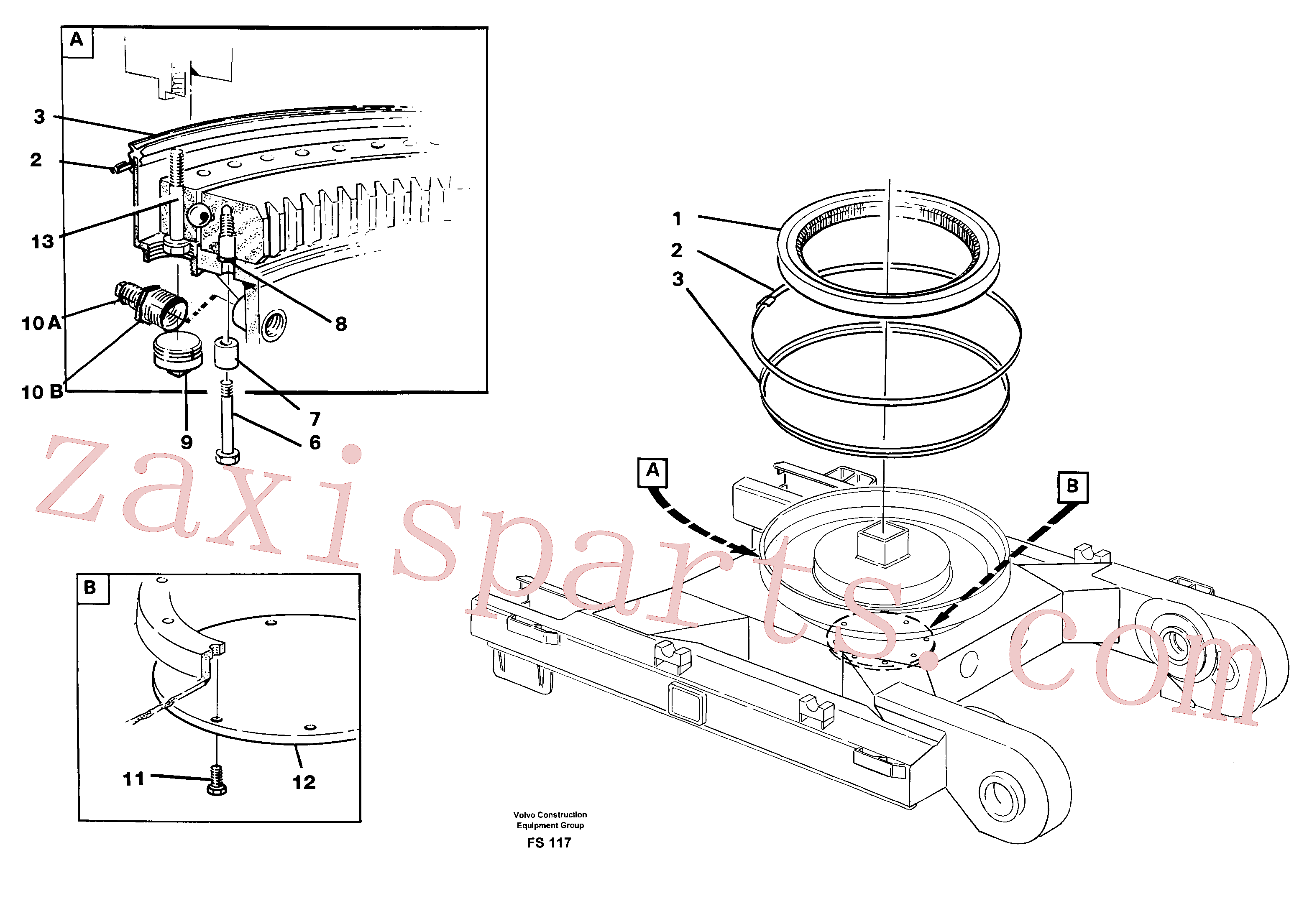 VOE14049631 for Volvo Slewing ring attachment(FS117 assembly)