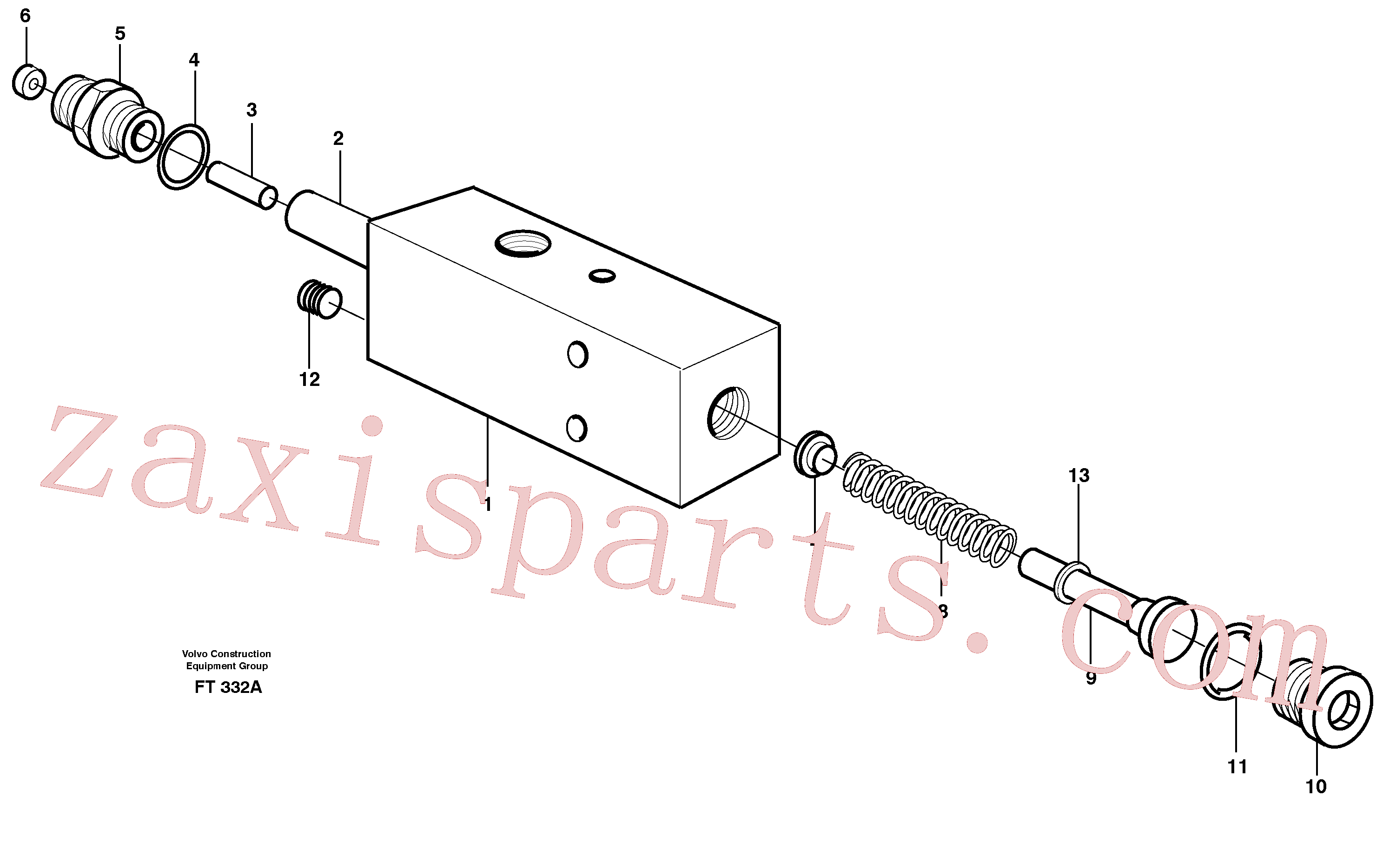 VOE14343694 for Volvo Valve,crawlerbrake(FT332A assembly)
