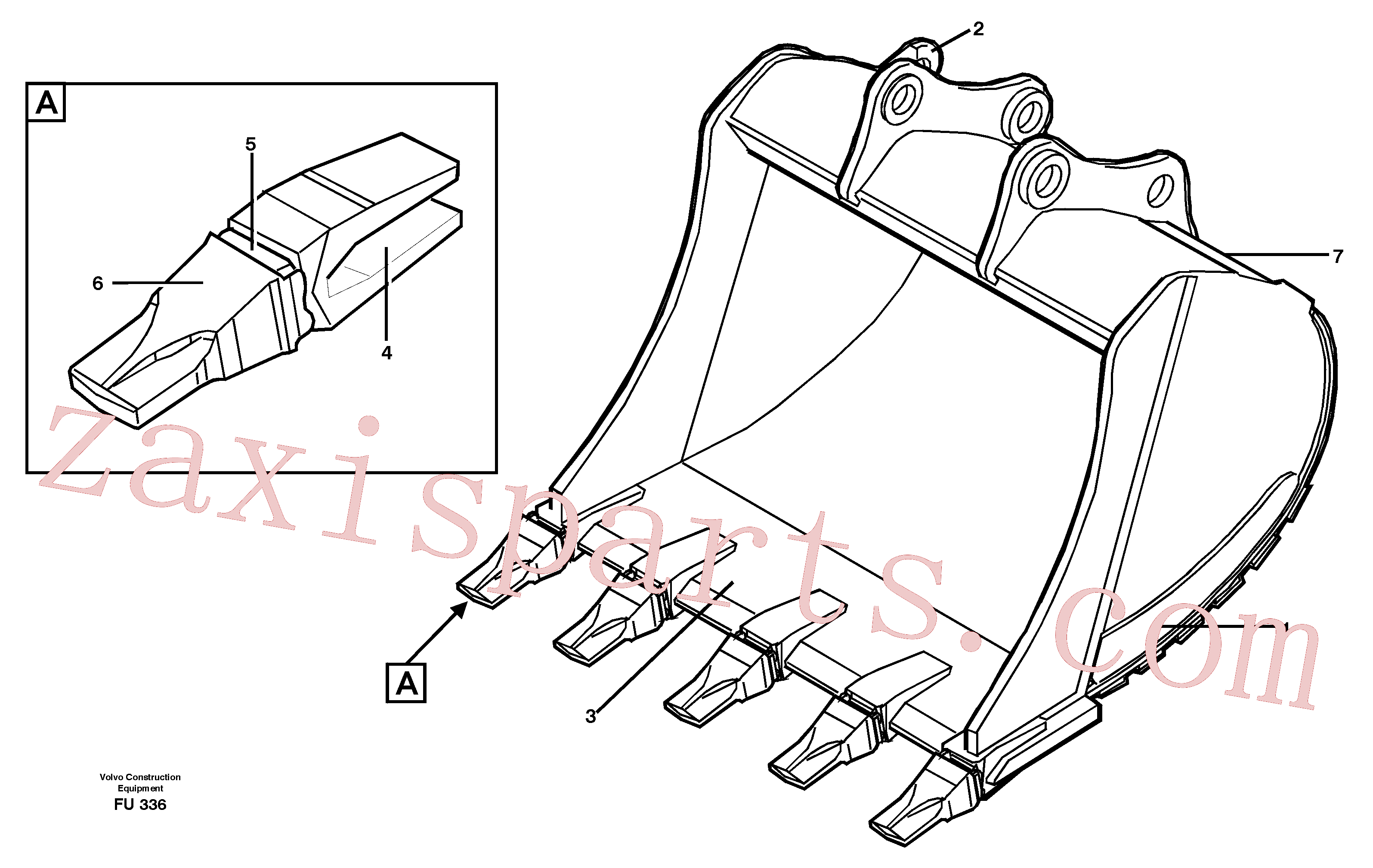 VOE14323664 for Volvo Buckets, direct fitting Combi Parts(FU336 assembly)