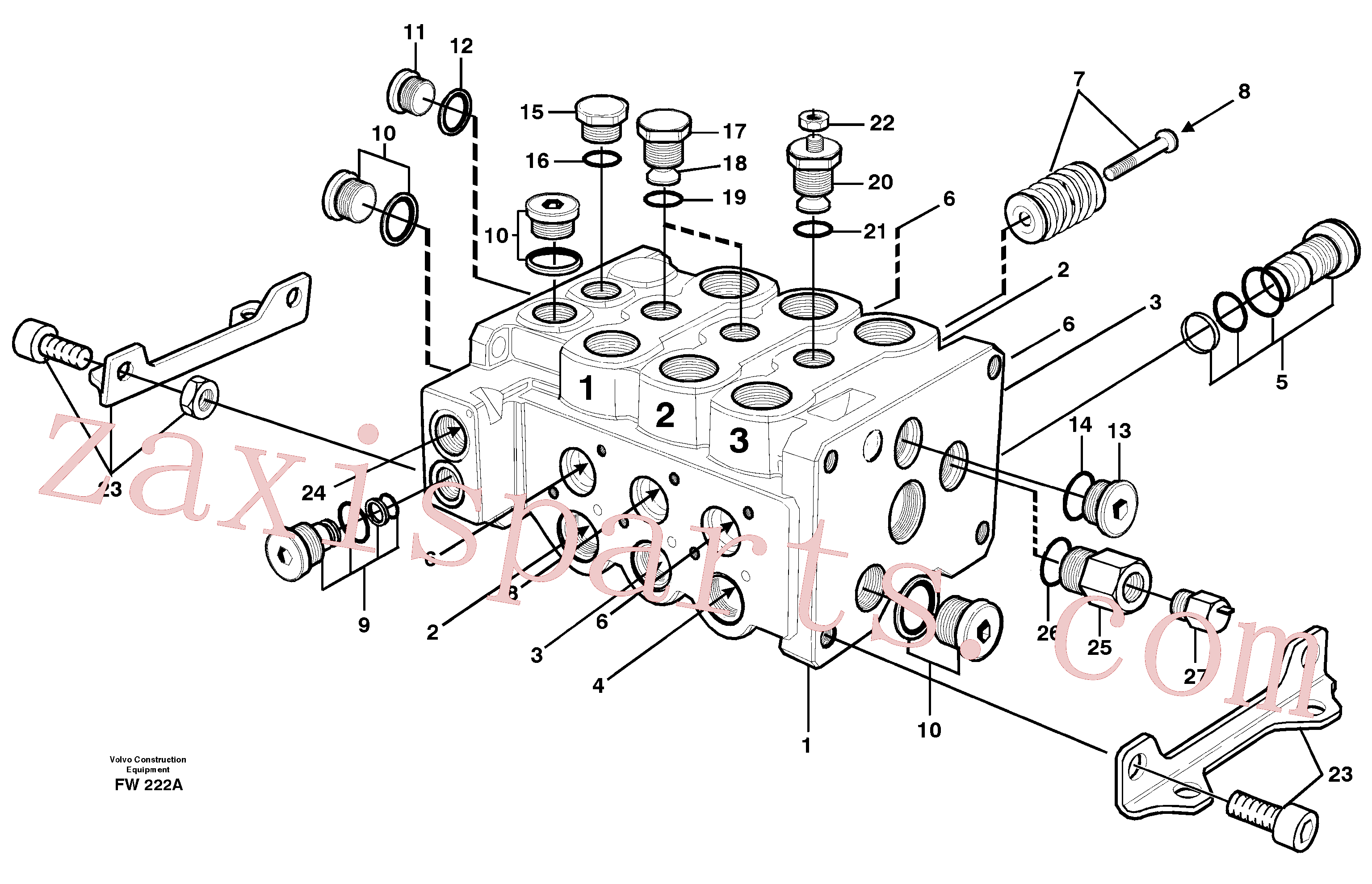 VOE14343480 for Volvo Control block(FW222A assembly)