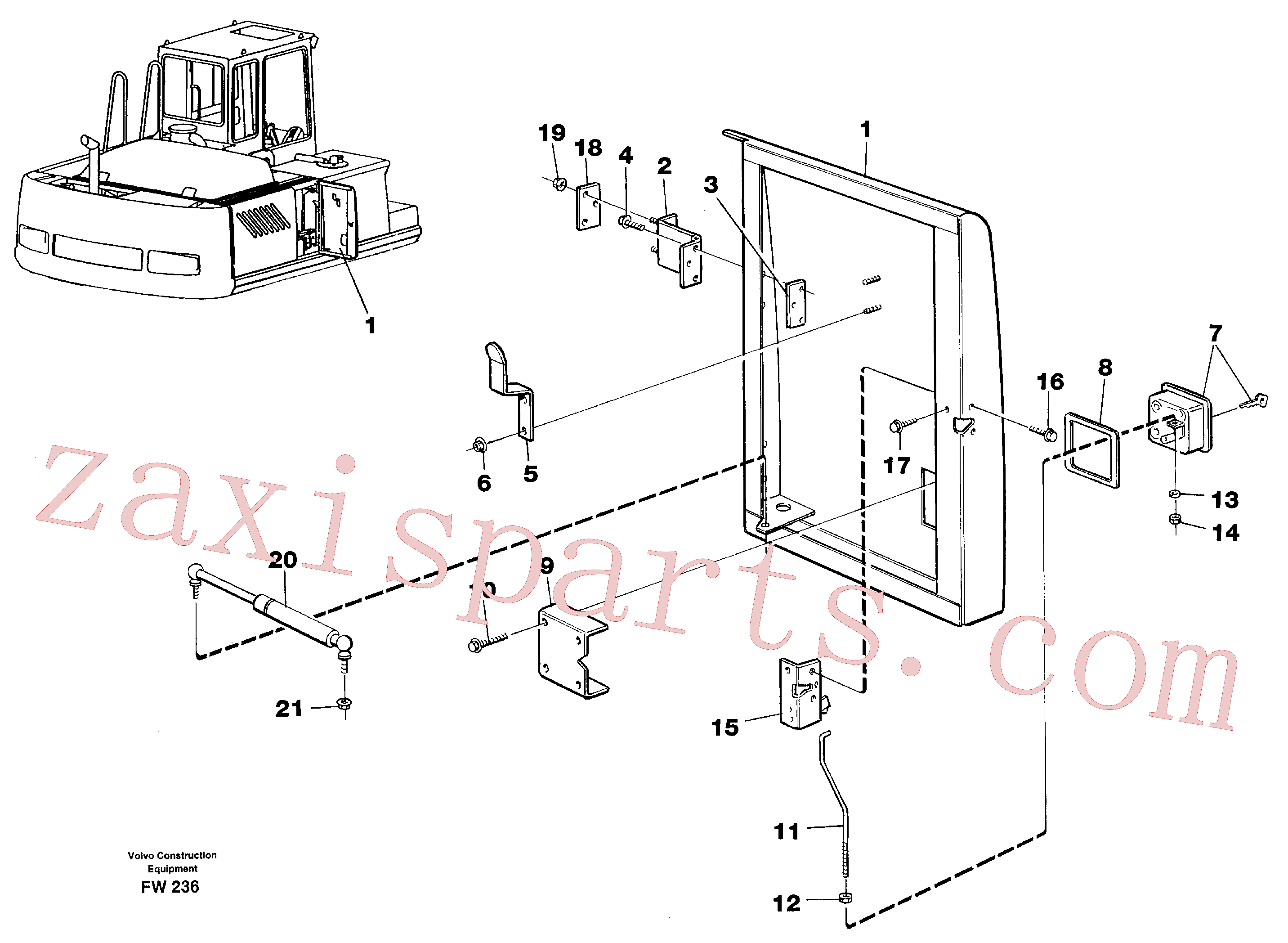 VOE14212993 for Volvo Door, centre, right(FW236 assembly)