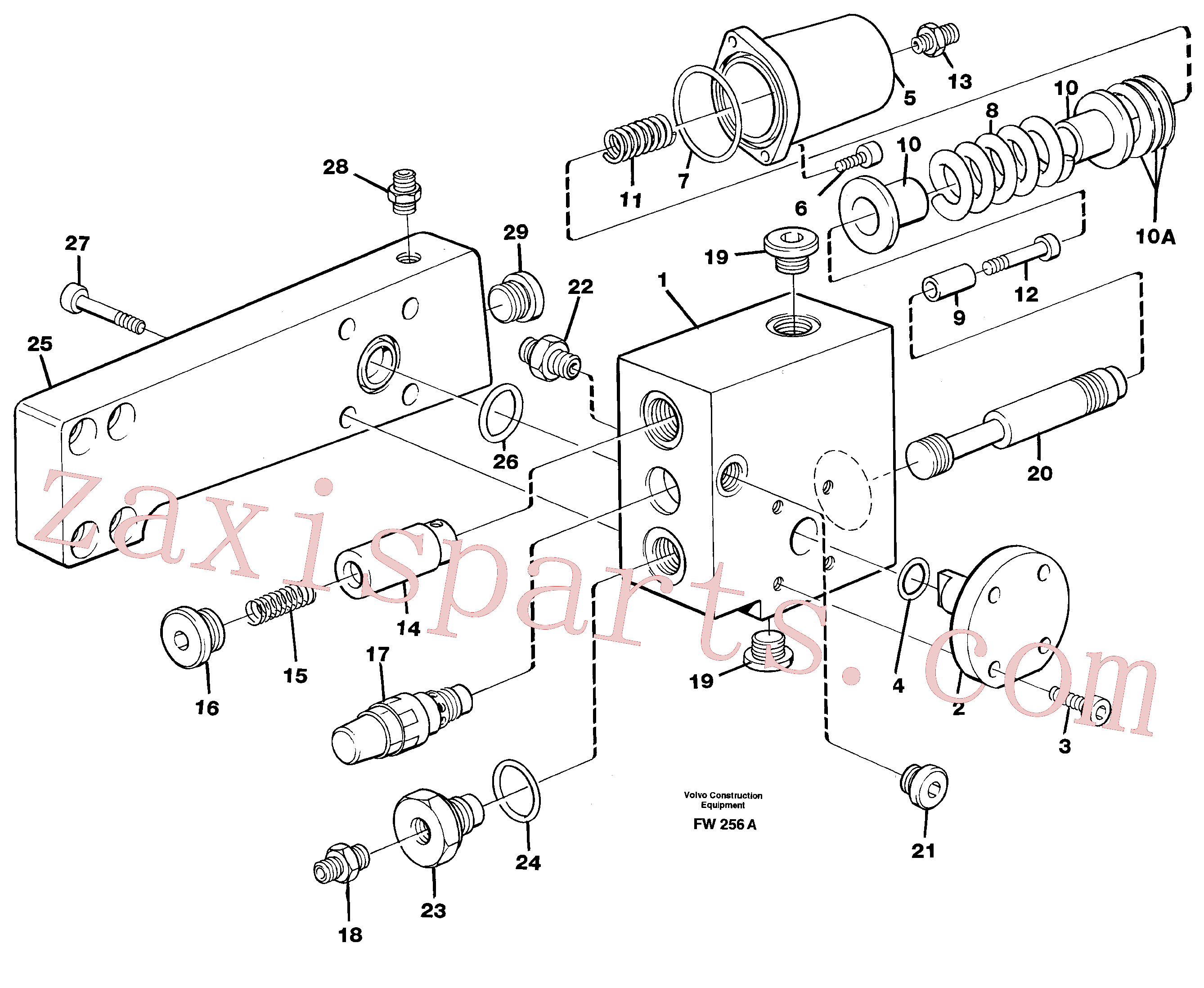 VOE959239 for Volvo Hose rupture valve, boom cylinder(FW256A assembly)