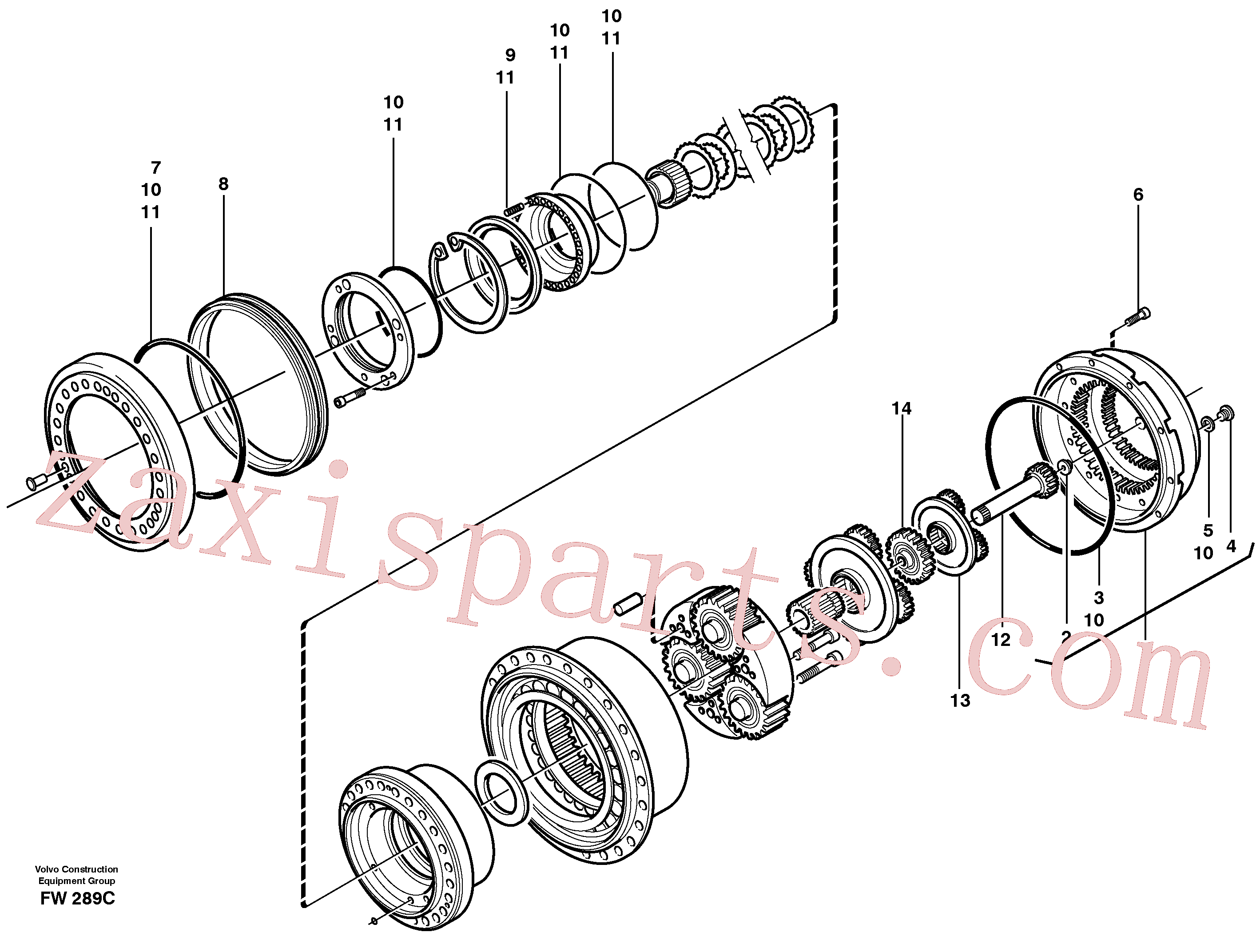 RM70921093 for Volvo Planetary gear, travel(FW289C assembly)