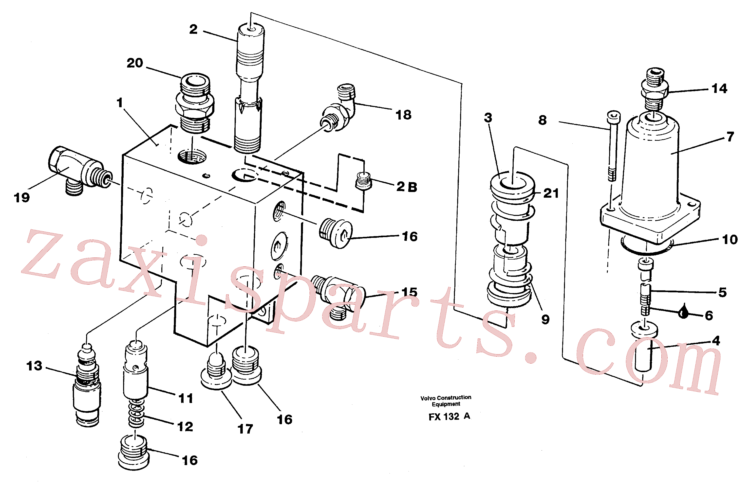 VOE14342428 for Volvo Hose rupture valve, boom cylinder(FX132A assembly)