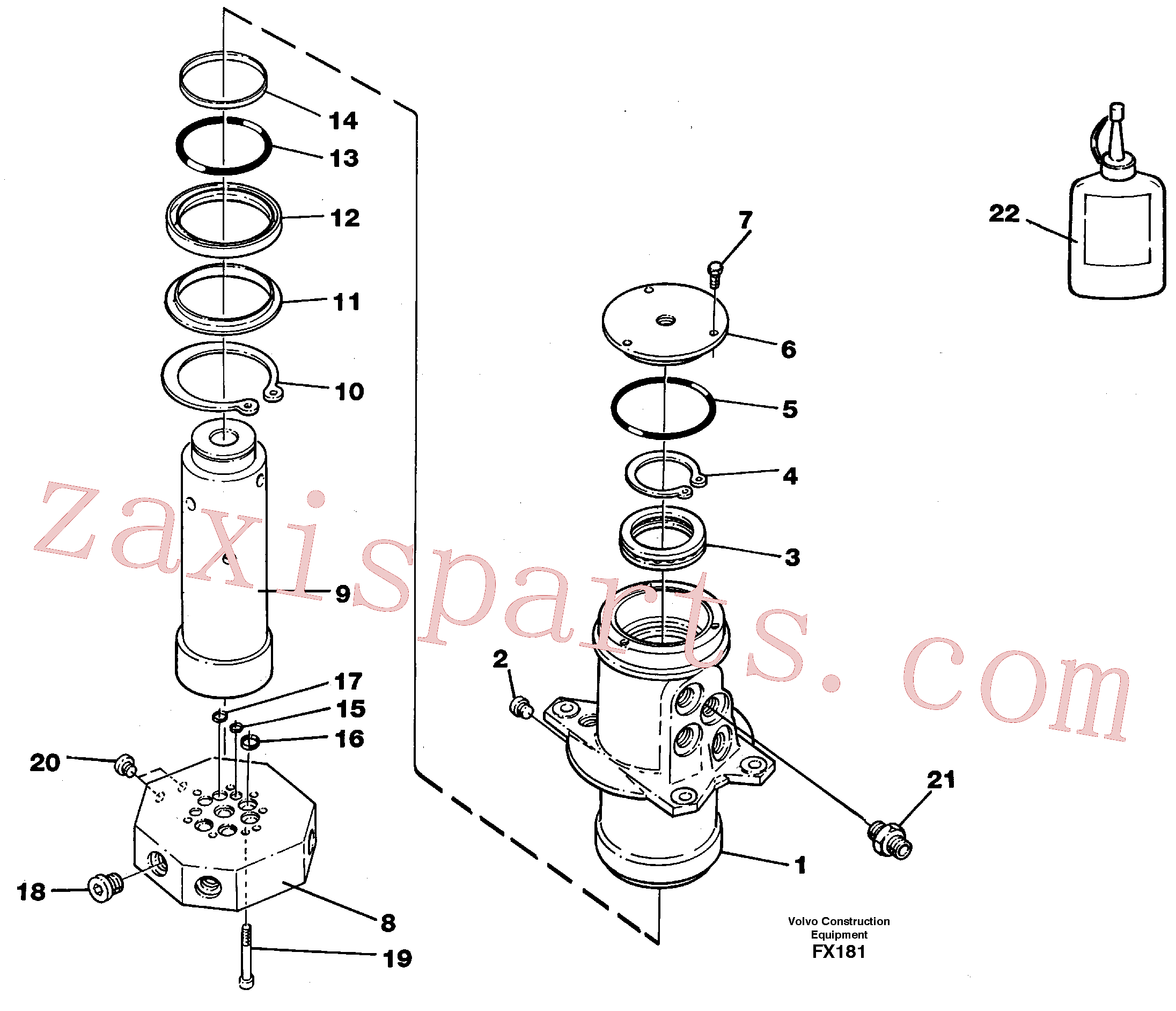 VOE7349689 for Volvo Turning joint(FX181 assembly)
