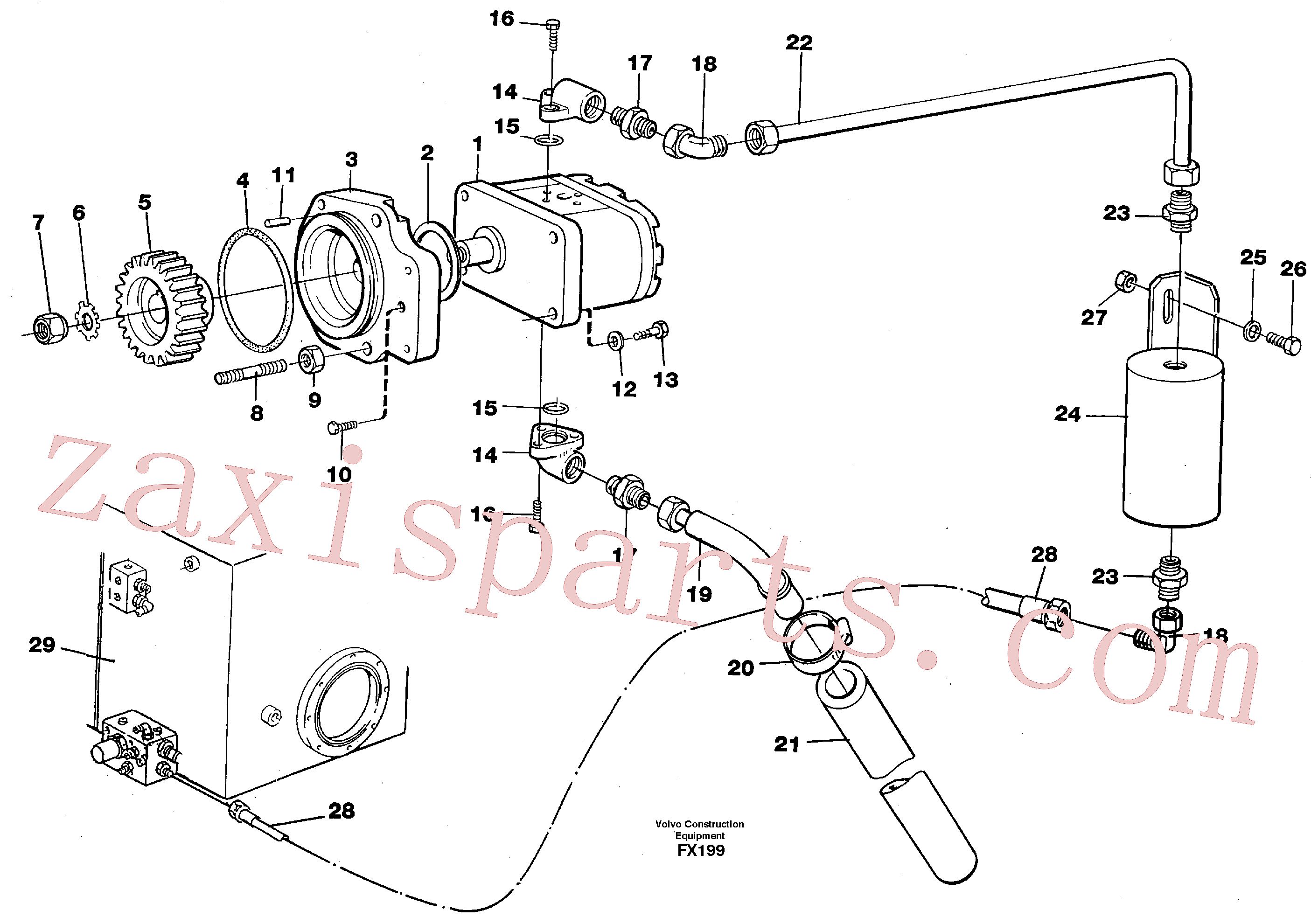 VOE14213887 for Volvo Servo pump(FX199 assembly)