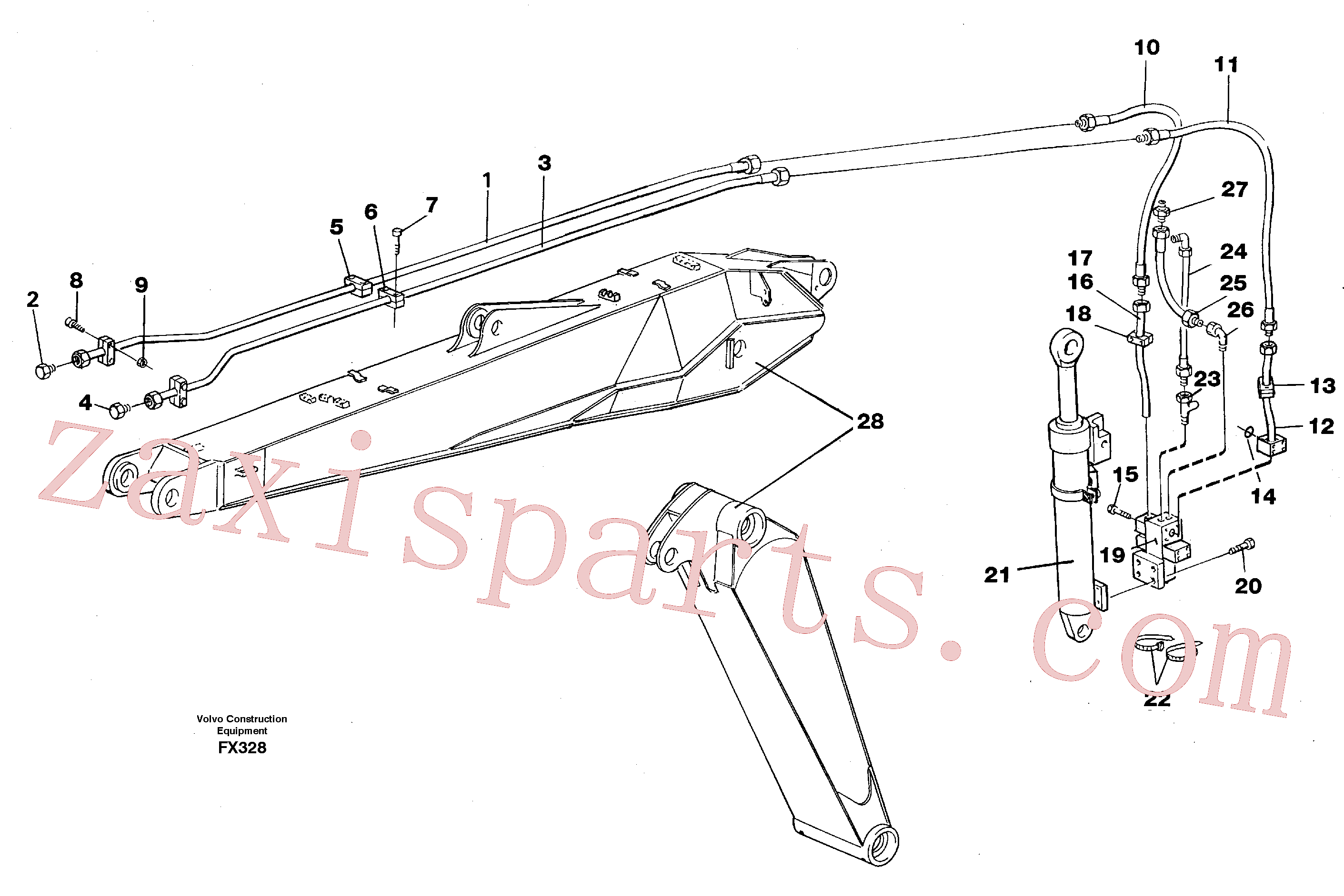 VOE14252837 for Volvo Hydraulic hammer equipment,adjustable boom(FX328 assembly)