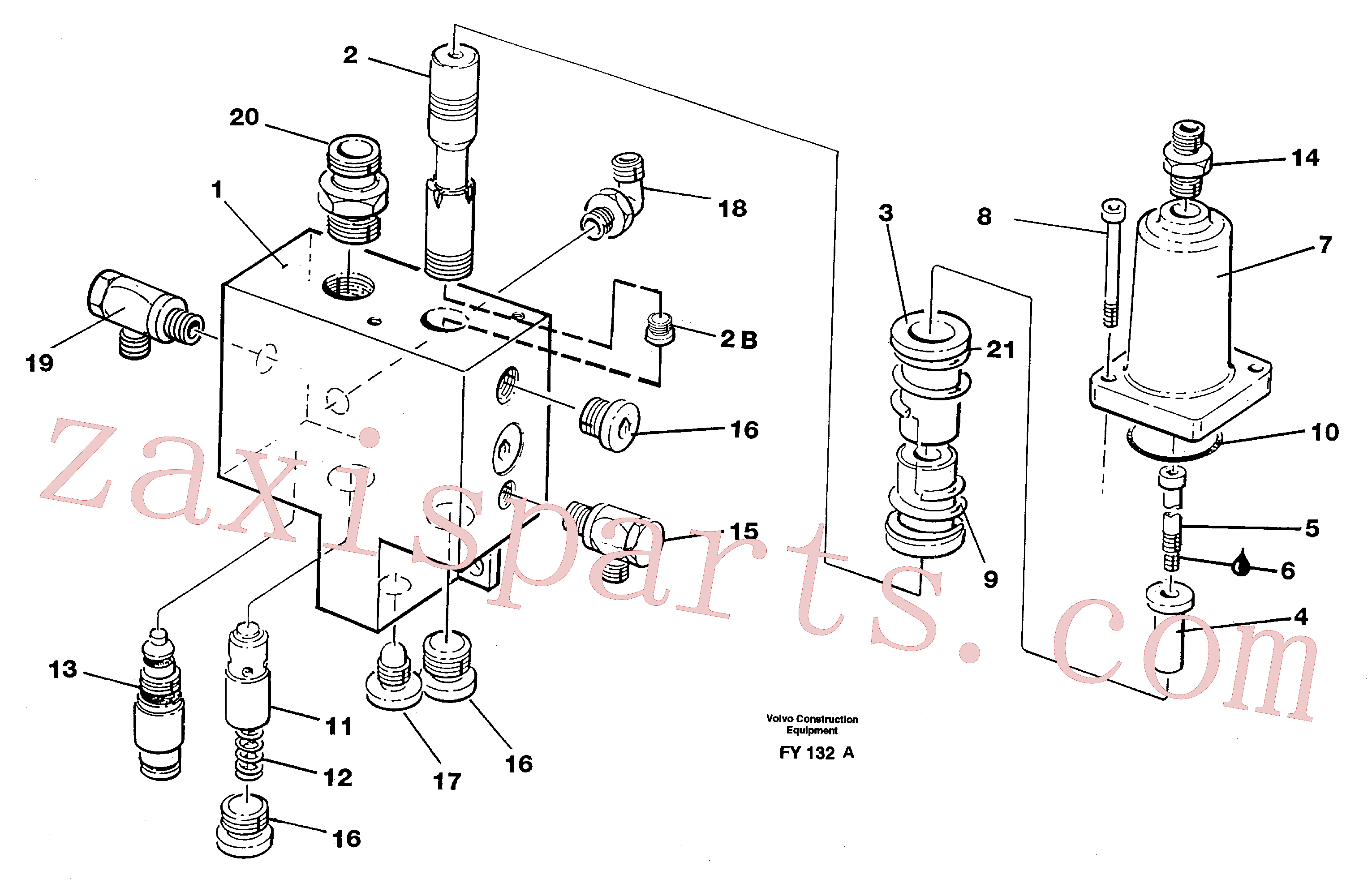VOE14342428 for Volvo Hose rupture valve, boom cylinder(FY132A assembly)
