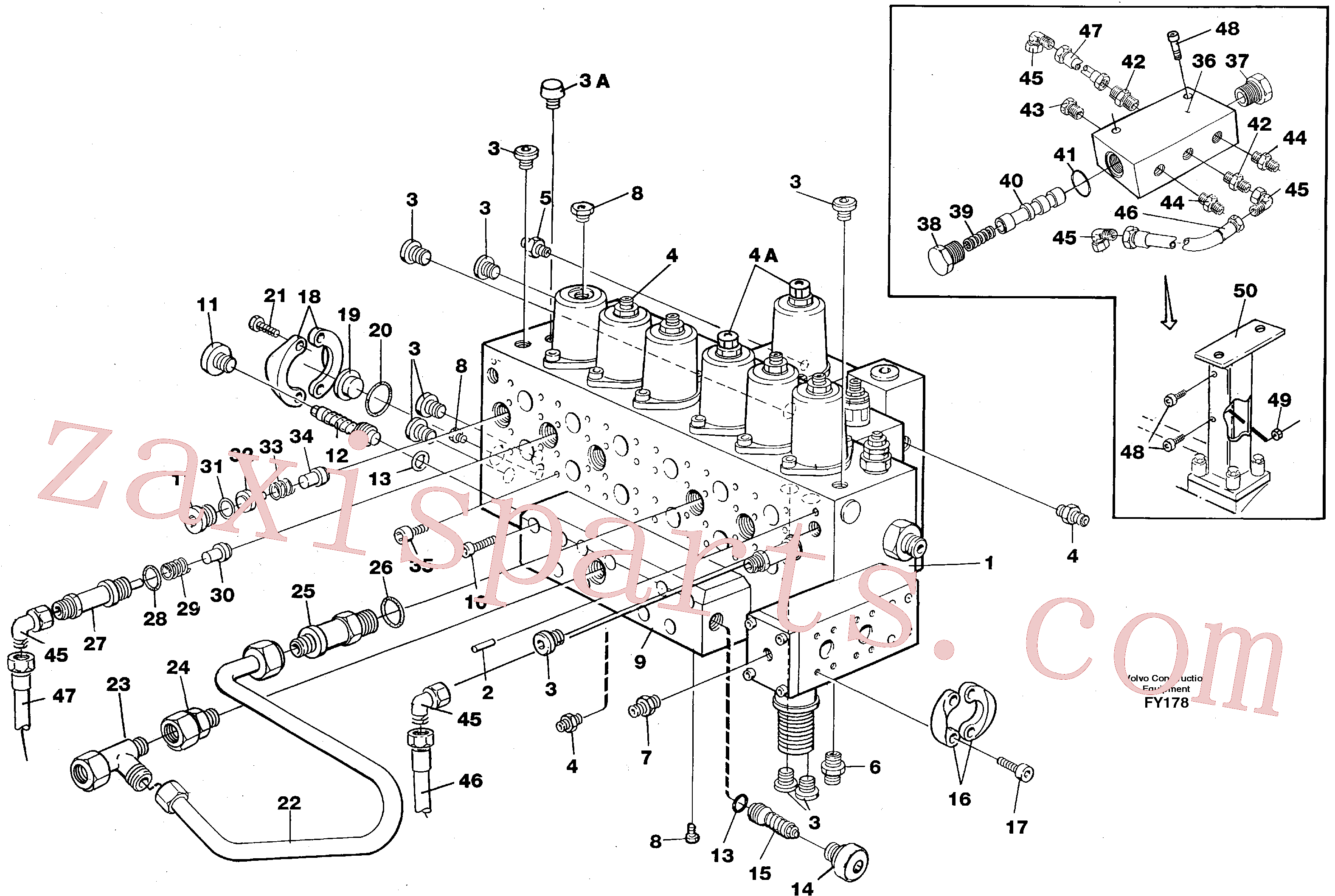 VOE14213678 for Volvo Main valve assembly, tubes connections, assembly bloc(FY178 assembly)