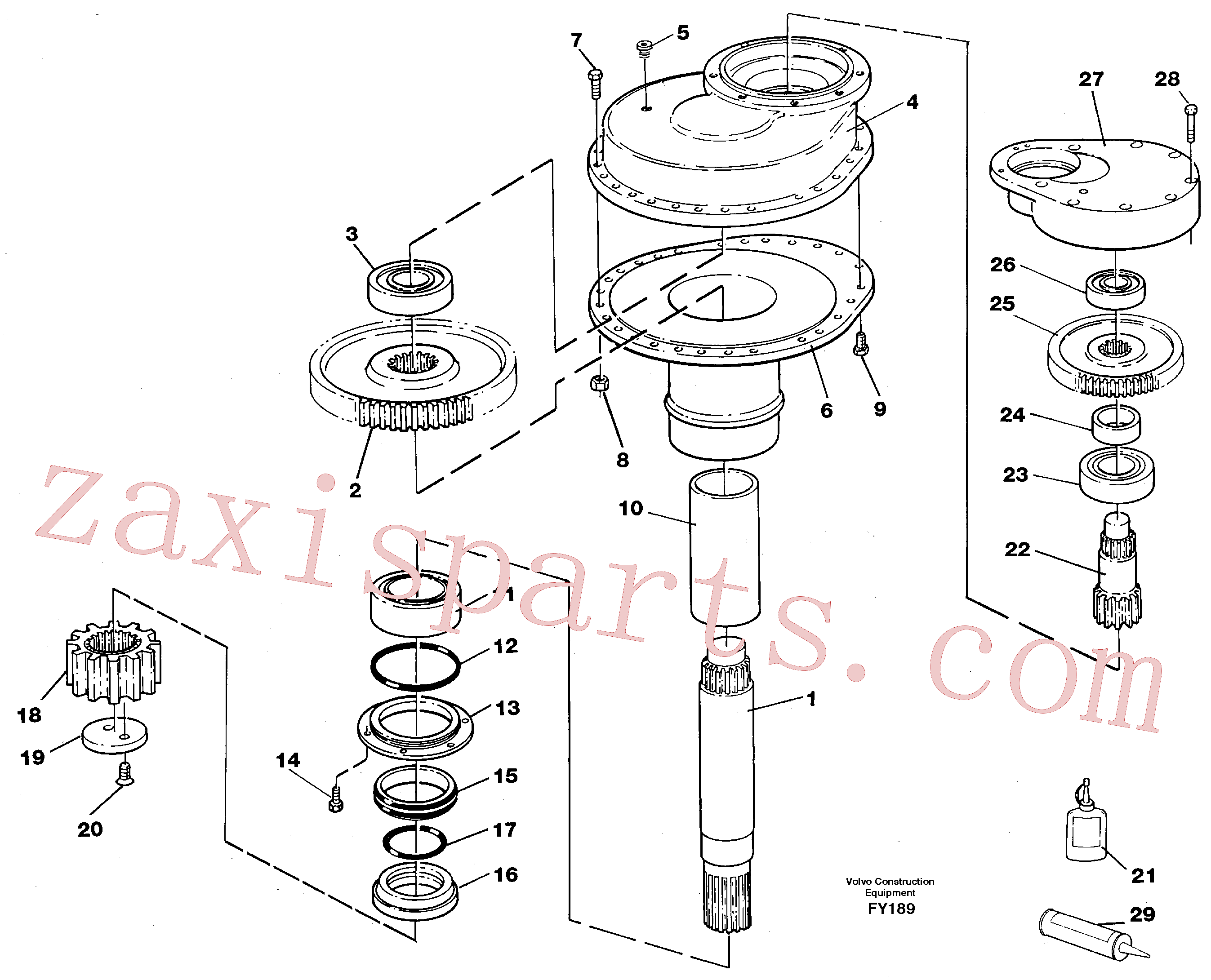 VOE14014695 for Volvo Swing gearbox(FY189 assembly)