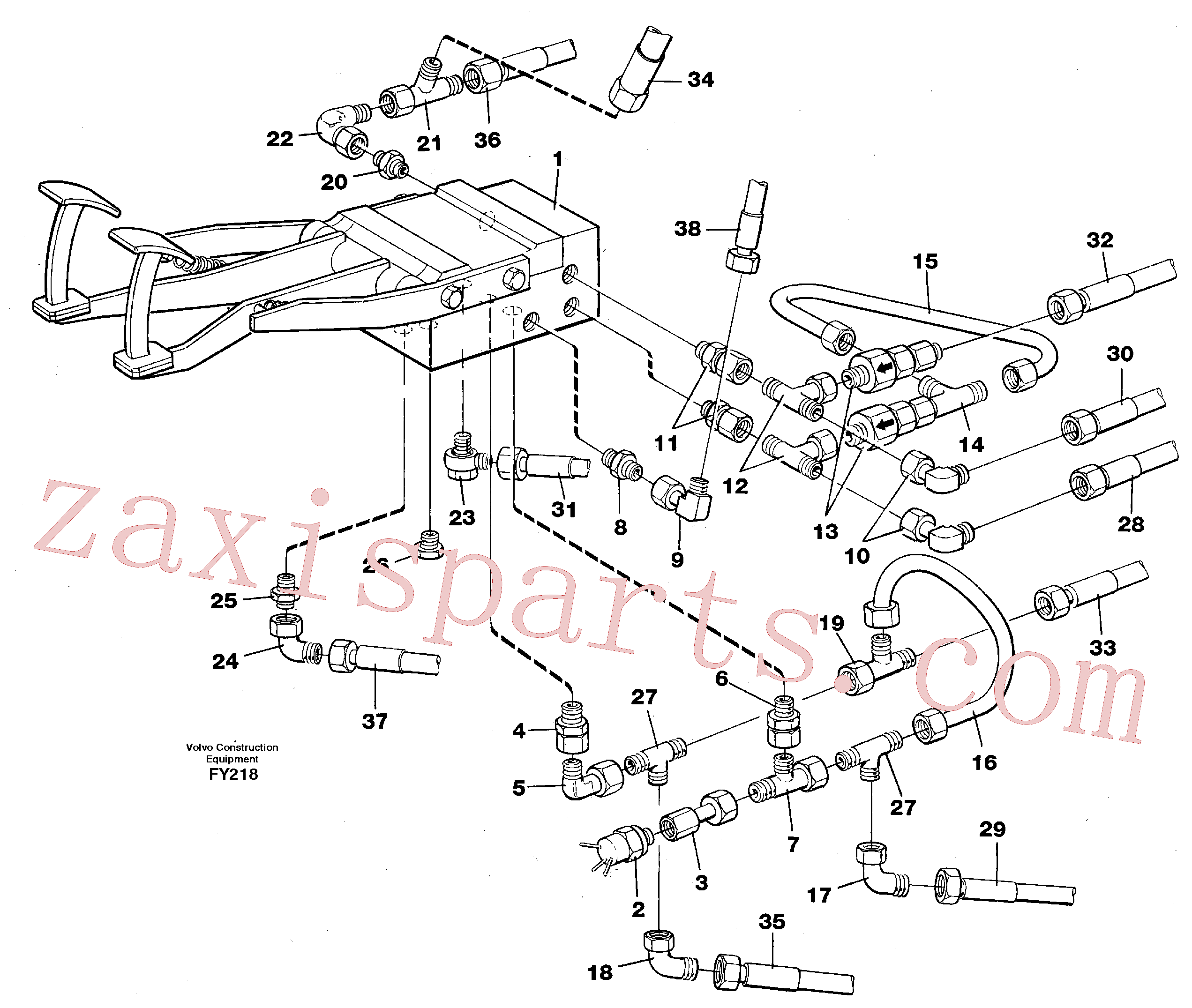 VOE14245237 for Volvo Pedal valve with connections(FY218 assembly)