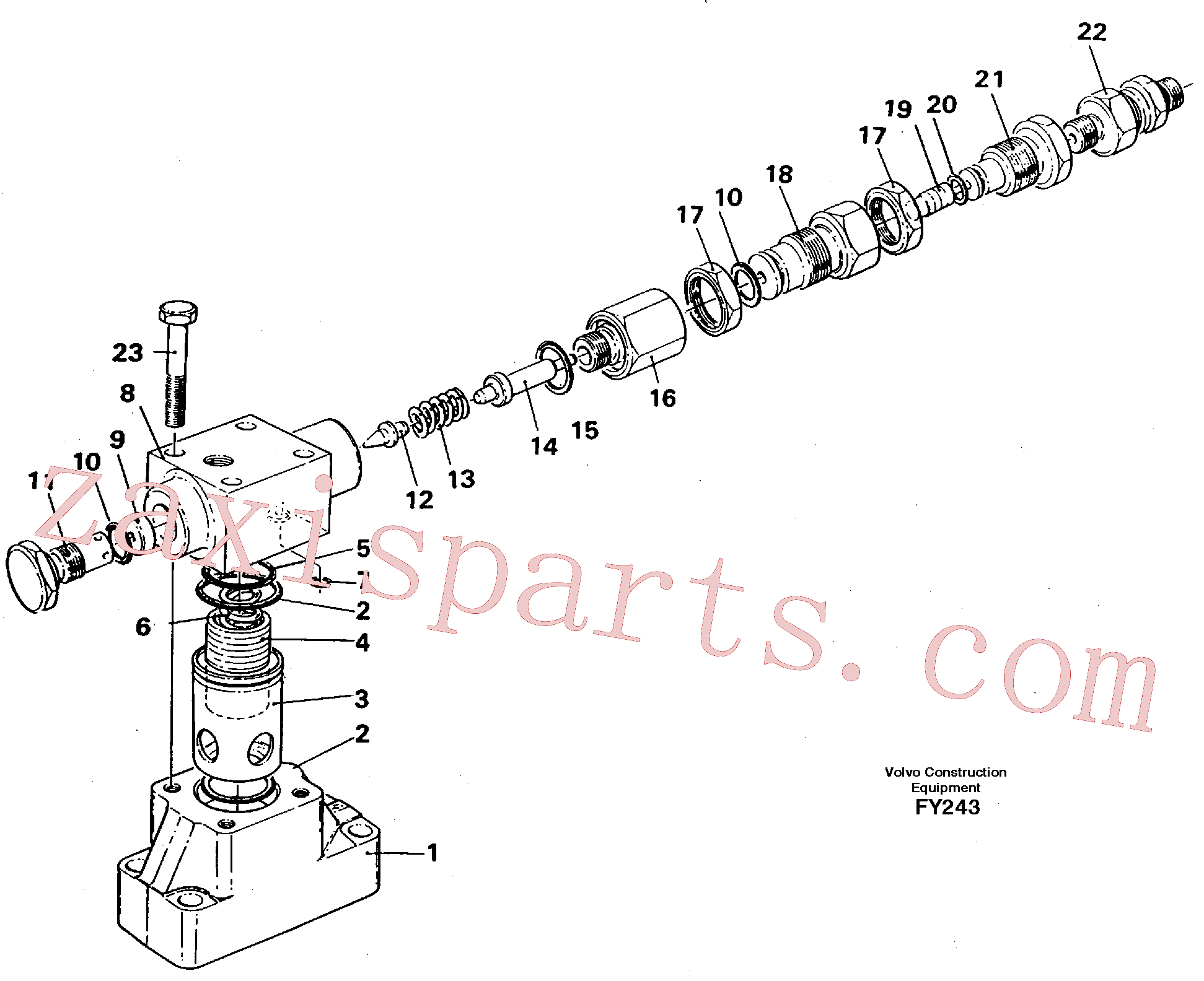 VOE14340724 for Volvo Pressure limiting valve(FY243 assembly)