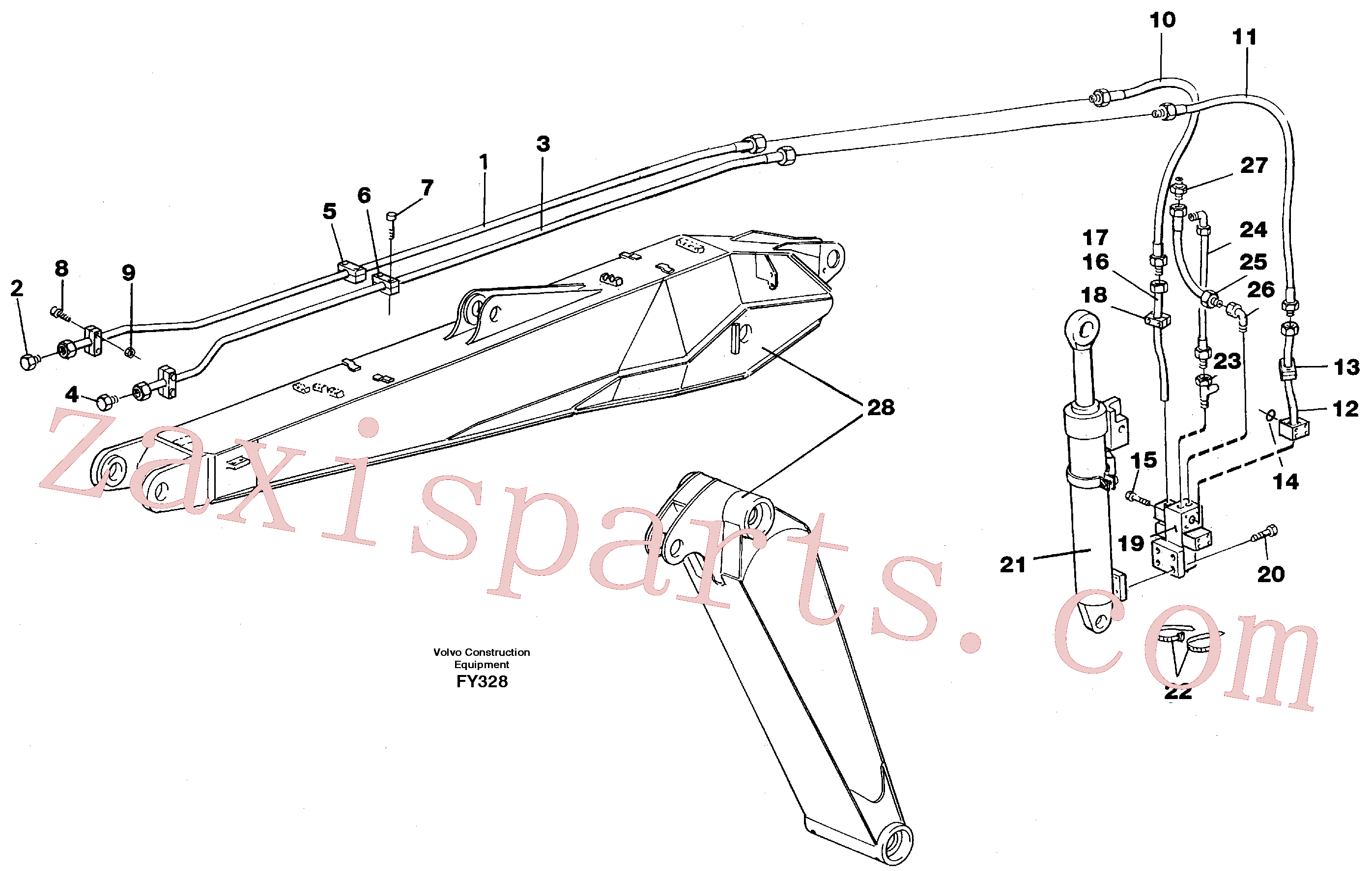 VOE14252837 for Volvo Hydraulic hammer equipment,adjustable boom(FY328 assembly)