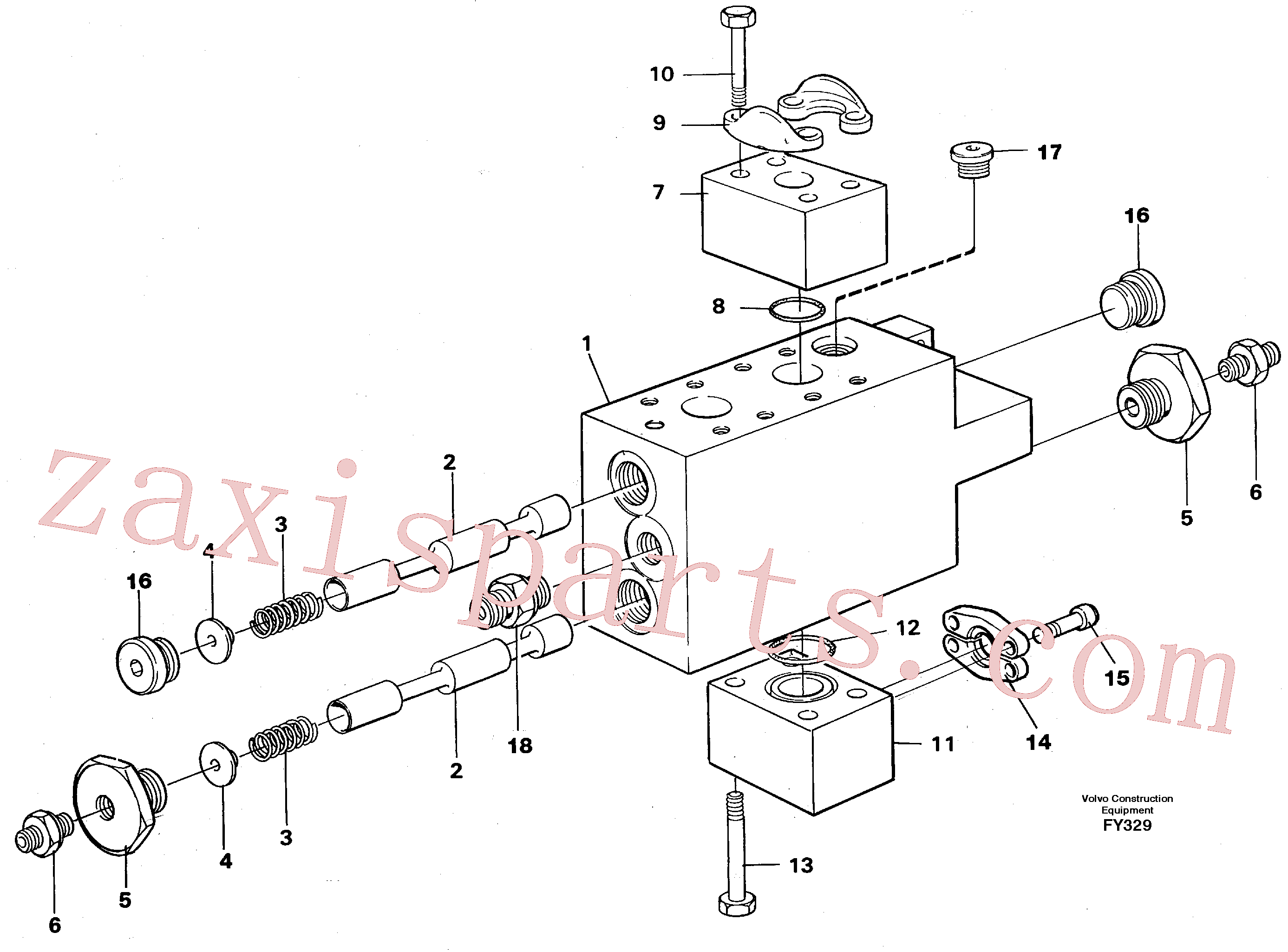 VOE14263818 for Volvo Operating valve(FY329 assembly)