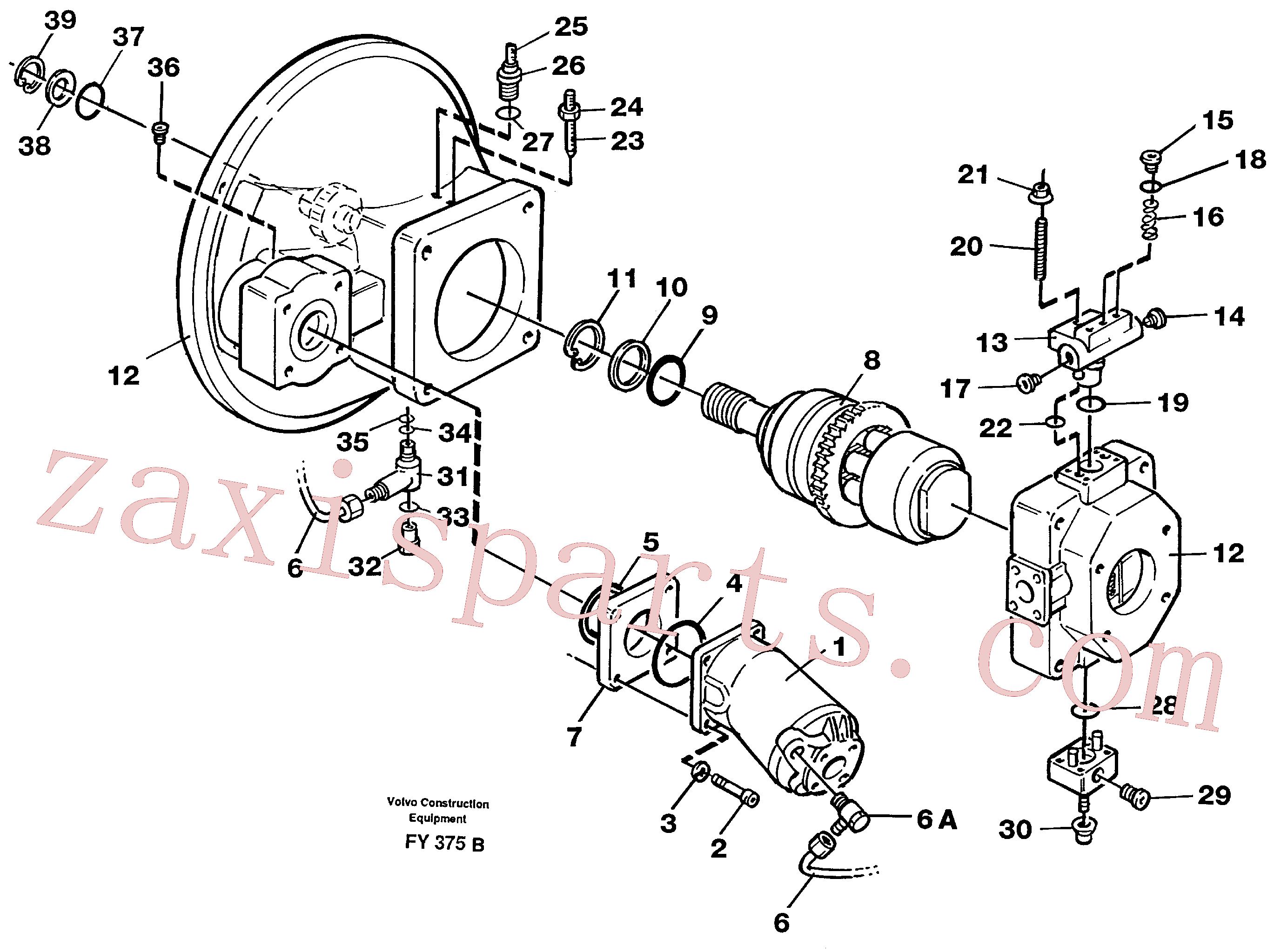 VOE11992750 for Volvo Pump gear box(FY375B assembly)