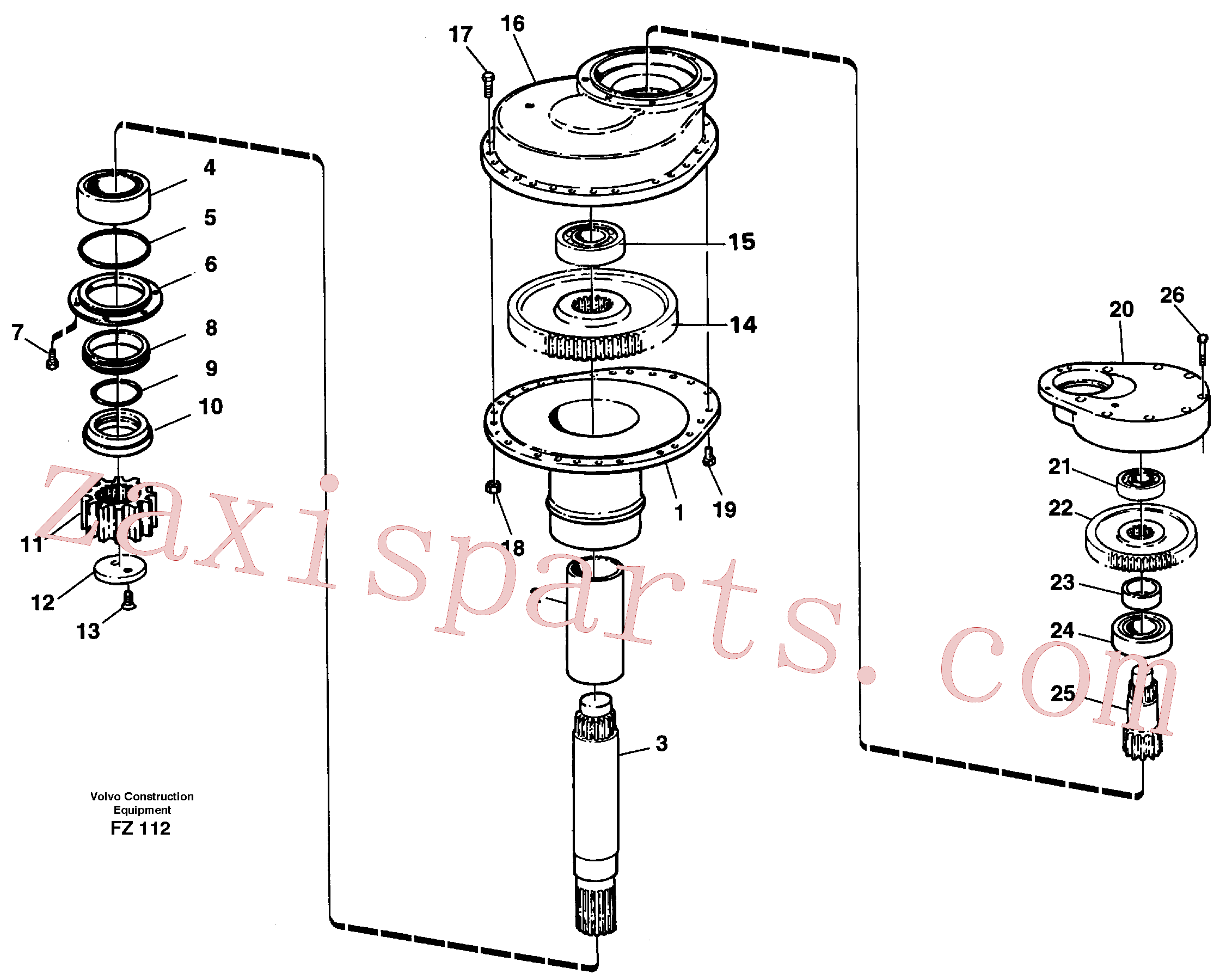 VOE14014695 for Volvo Swing gearbox(FZ112 assembly)