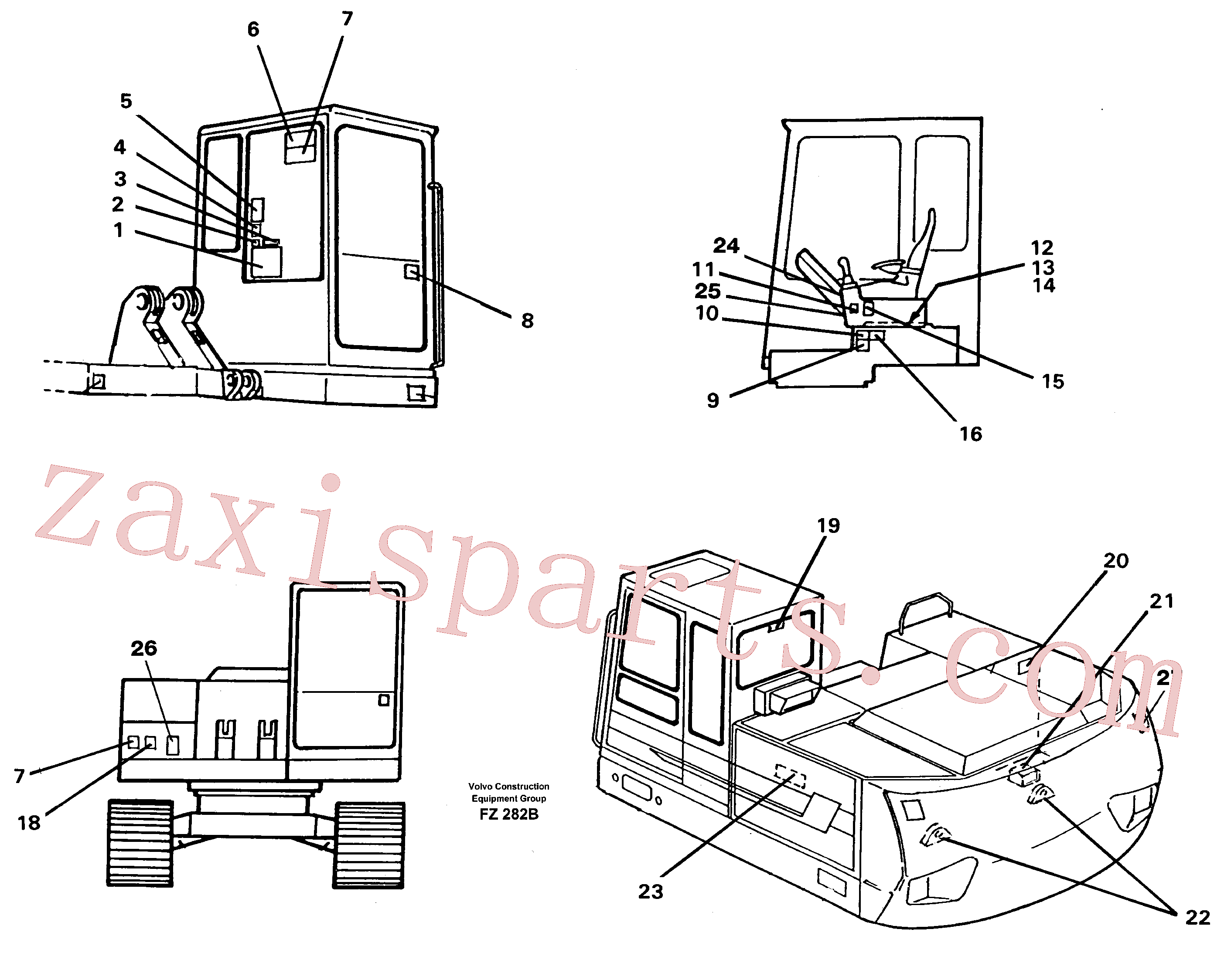 VOE14343467 for Volvo Sign plates and transfer,inner location(FZ282B assembly)